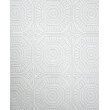 """Kelly Hoppen Style 33' x 20"""" Geometric Wallpaper Roll"""