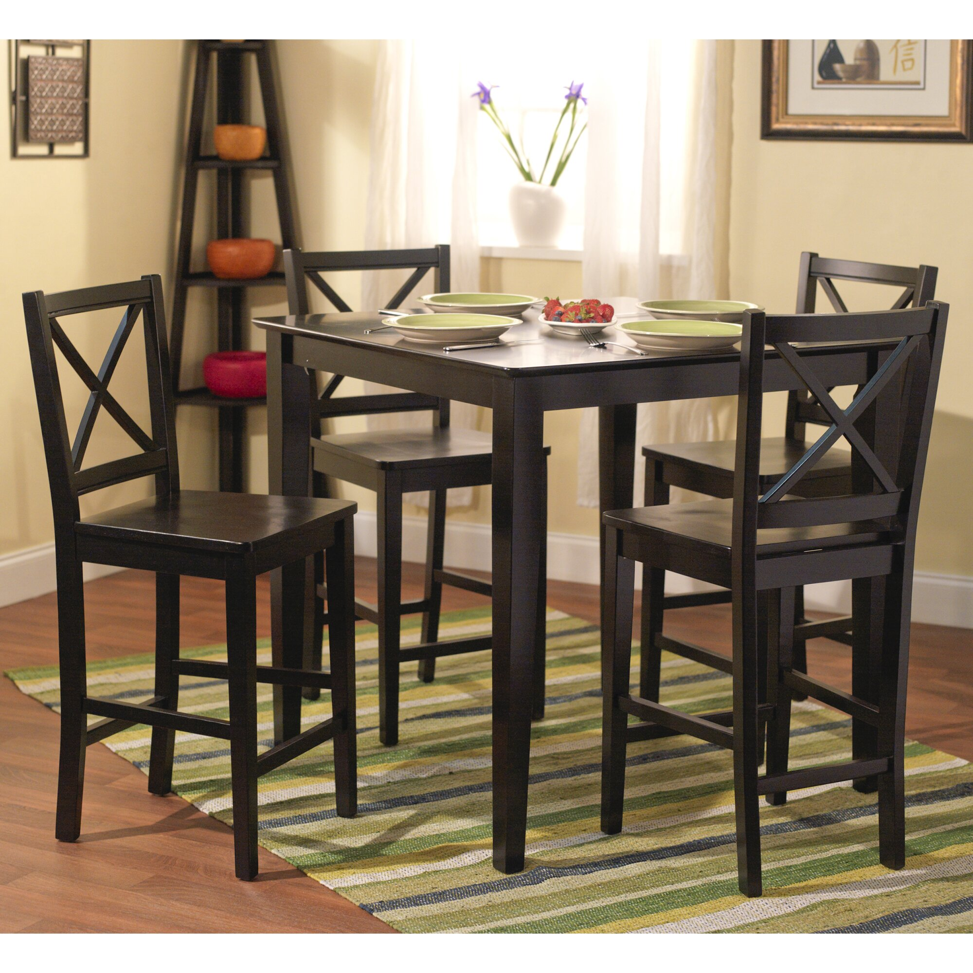 Breakwater Bay Worthington 5 Piece Counter Height Dining Set