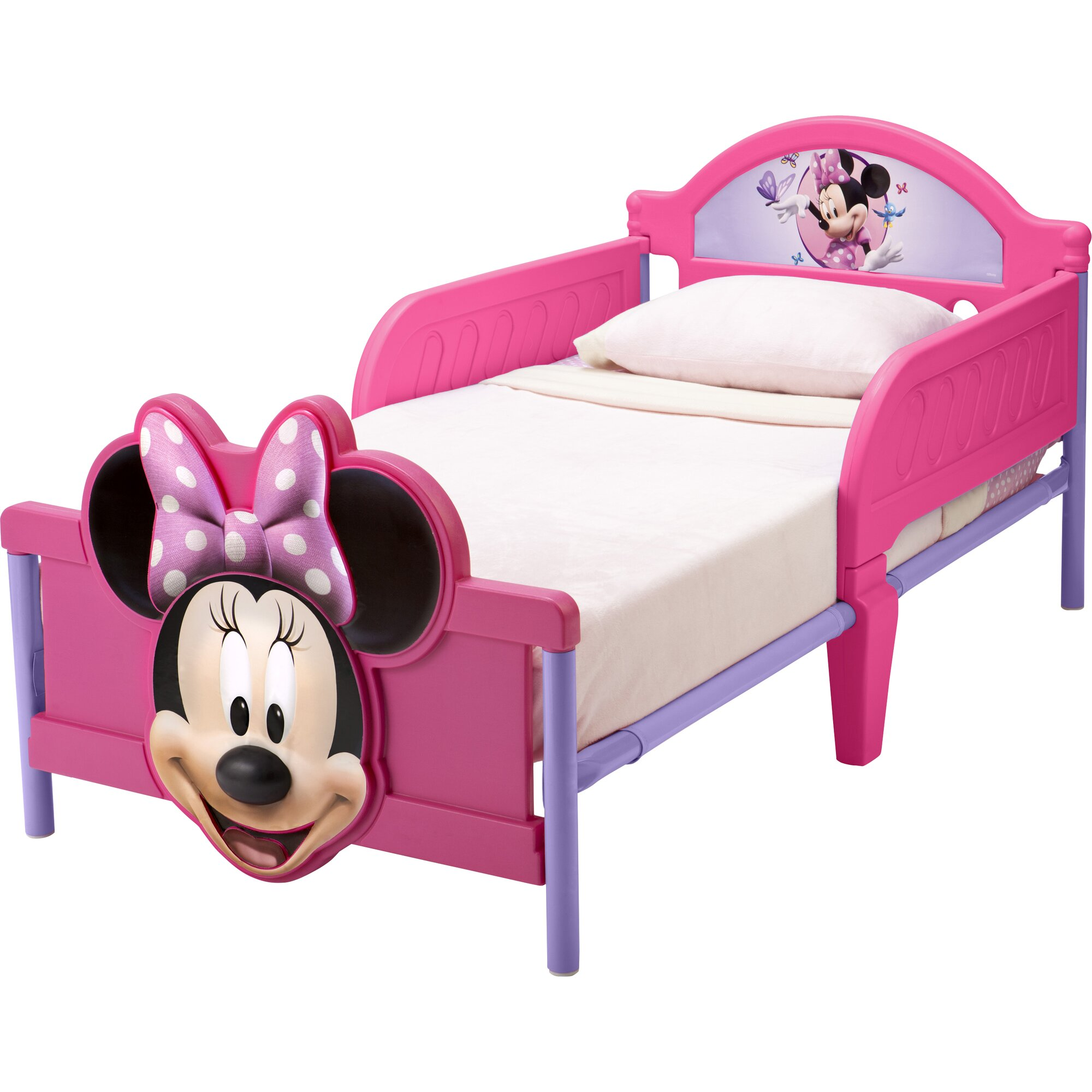 Delta Children Disney Minnie Mouse 3D Convertible Toddler Bed