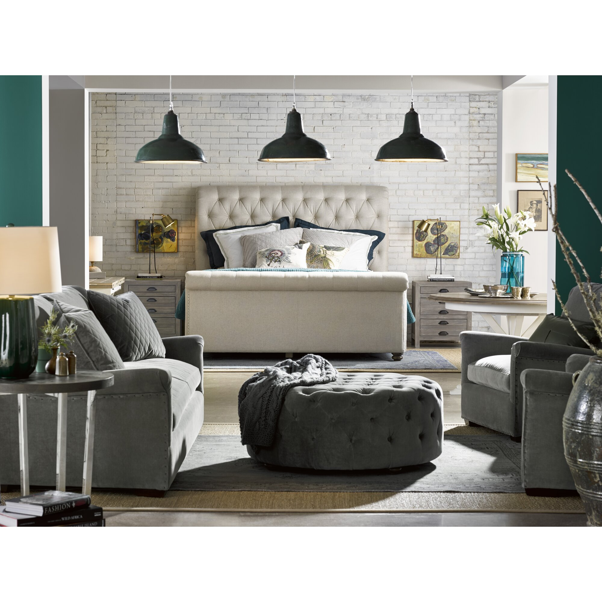 Universal Furniture New Bohemian Upholstered Sleigh Bed Reviews
