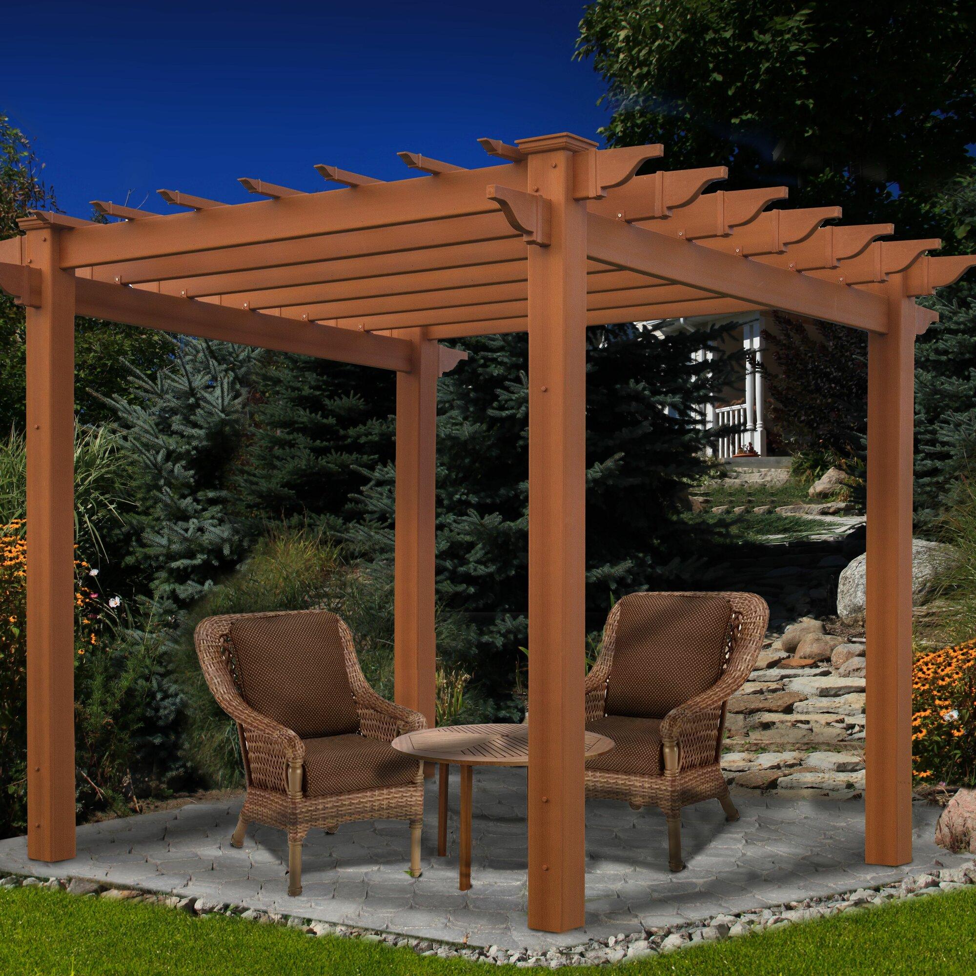 New England Arbors Eden Lakewood Cedar Pergola Amp Reviews