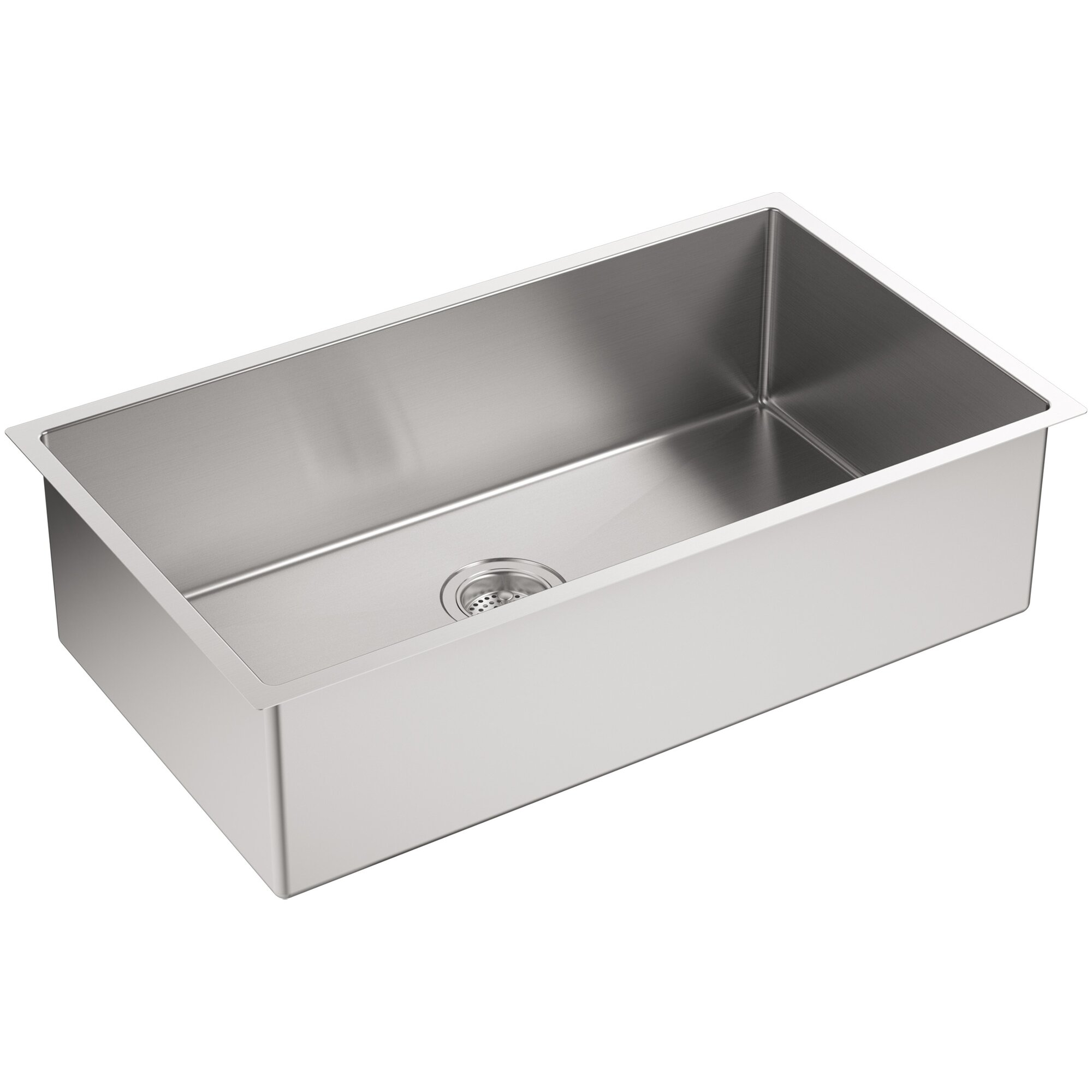 strive 32 x 1825 undermount single bowl kitchen sink with - White Single Basin Kitchen Sink