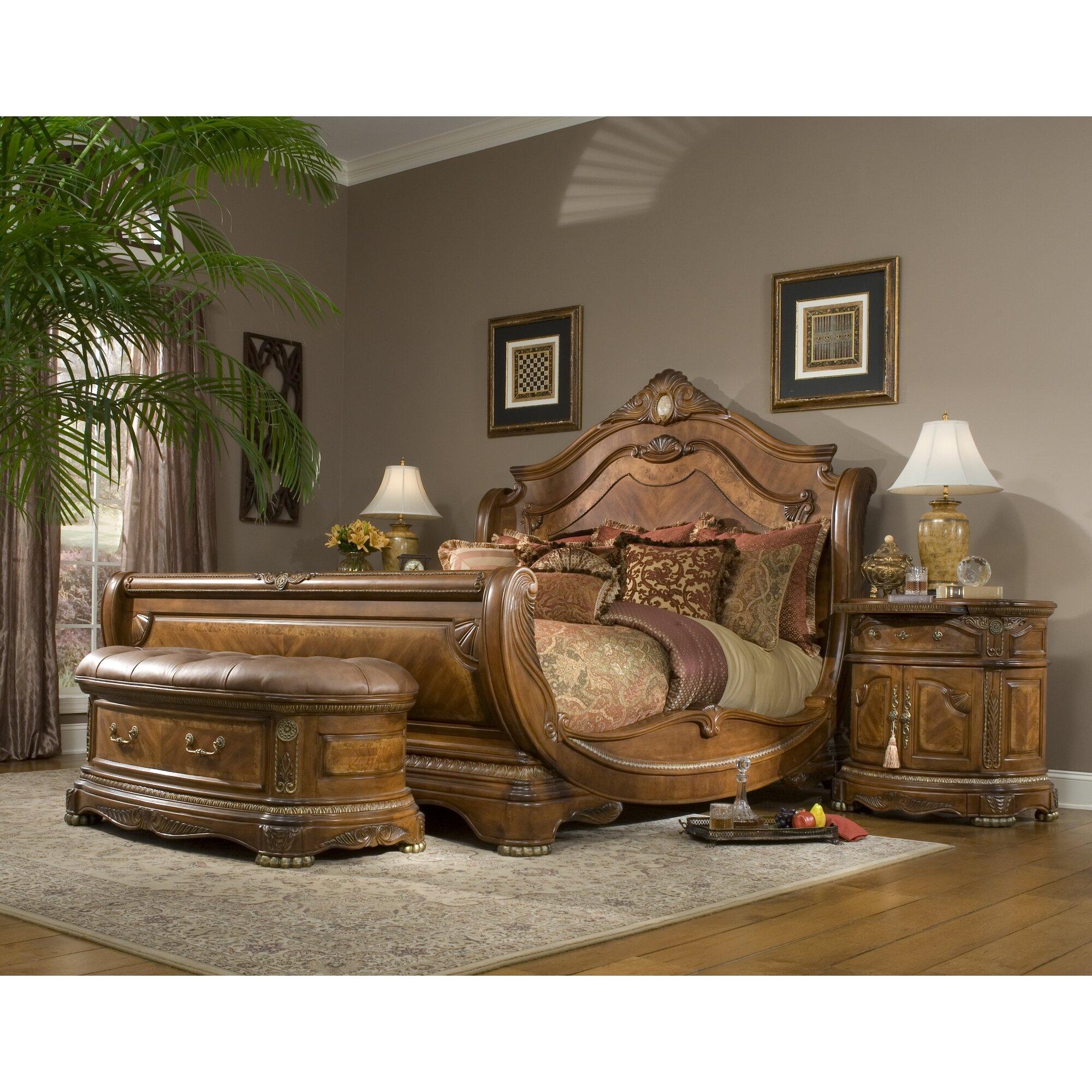 michael amini cortina panel customizable bedroom set reviews