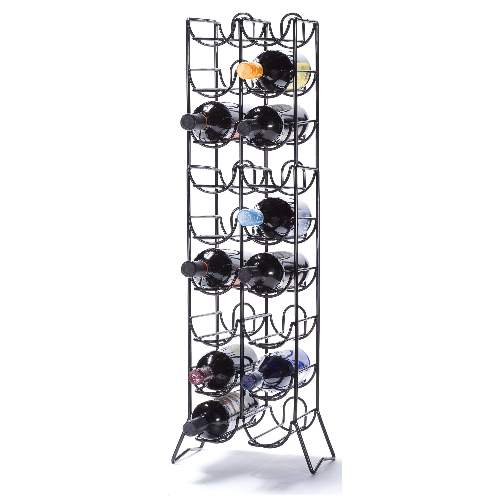 Red barrel studio rooftop 18 bottle floor wine rack for Floor wine rack