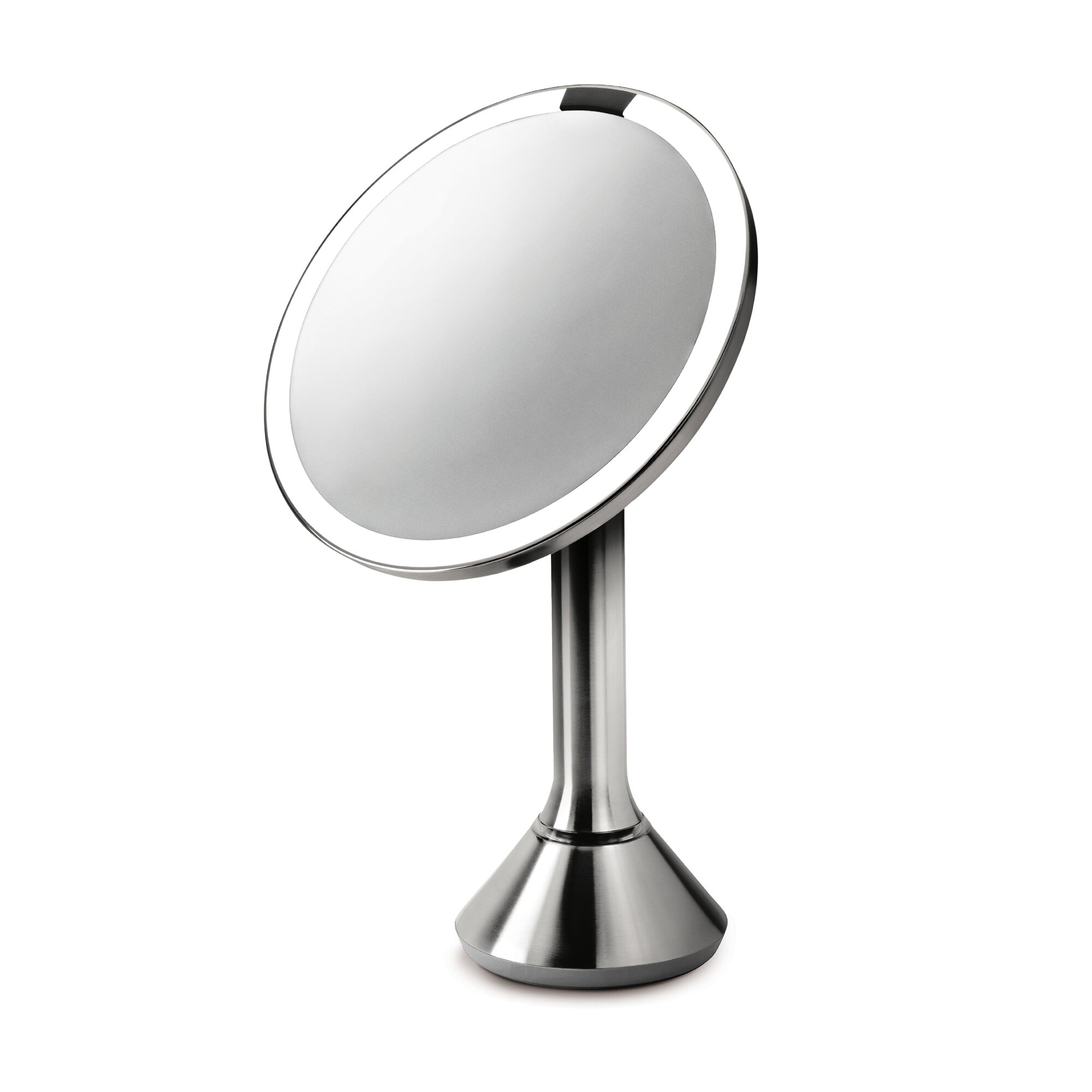 simplehuman sensor activated lighted vanity mirror 5x magnification 8 in reviews wayfair. Black Bedroom Furniture Sets. Home Design Ideas