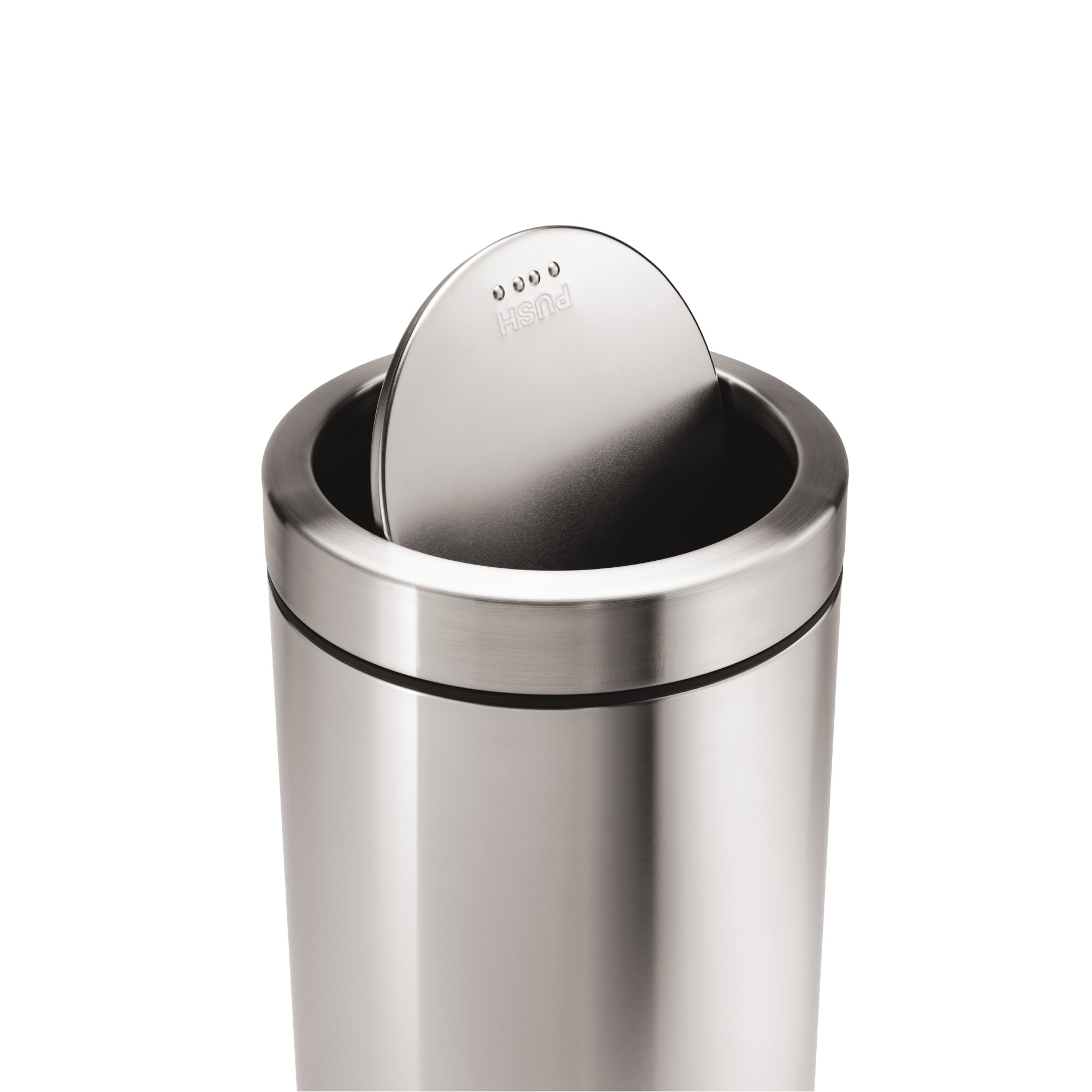 stainless steel 14 5 gallon swing top trash can reviews birch lane. Black Bedroom Furniture Sets. Home Design Ideas