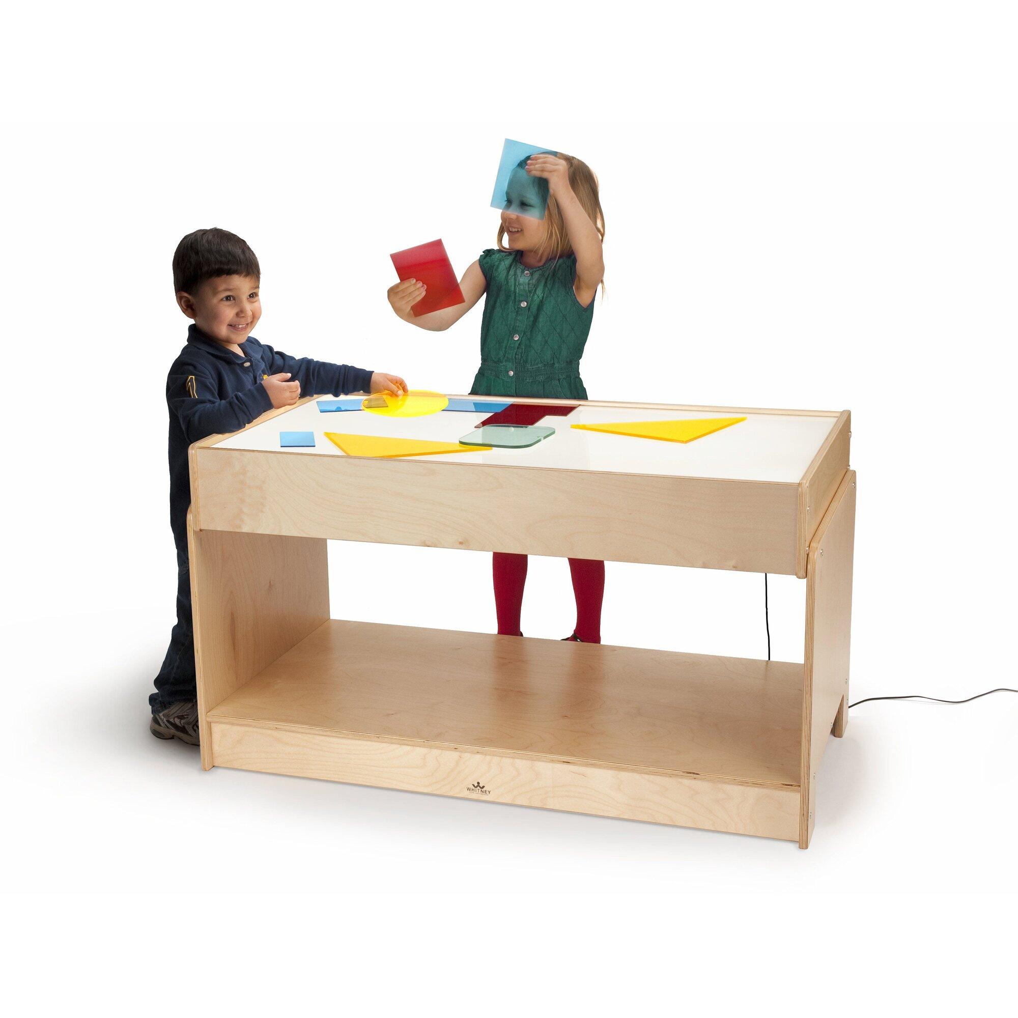 whitney bros big big light table kids rectangular arts. Black Bedroom Furniture Sets. Home Design Ideas
