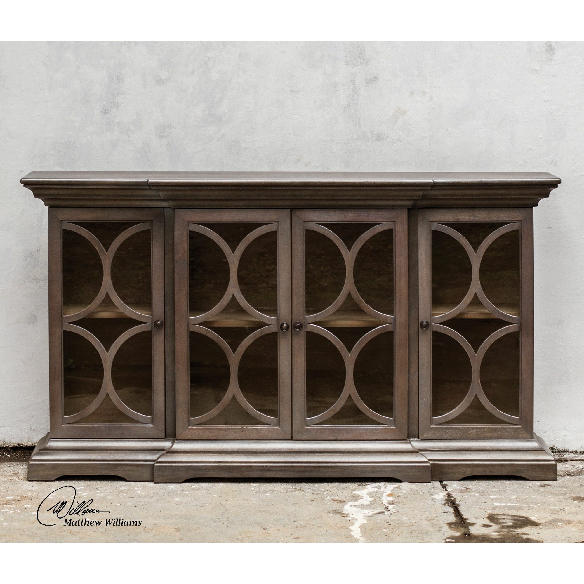 Uttermost belino wooden 4 door accent cabinet reviews for Wayfair kitchen cabinets