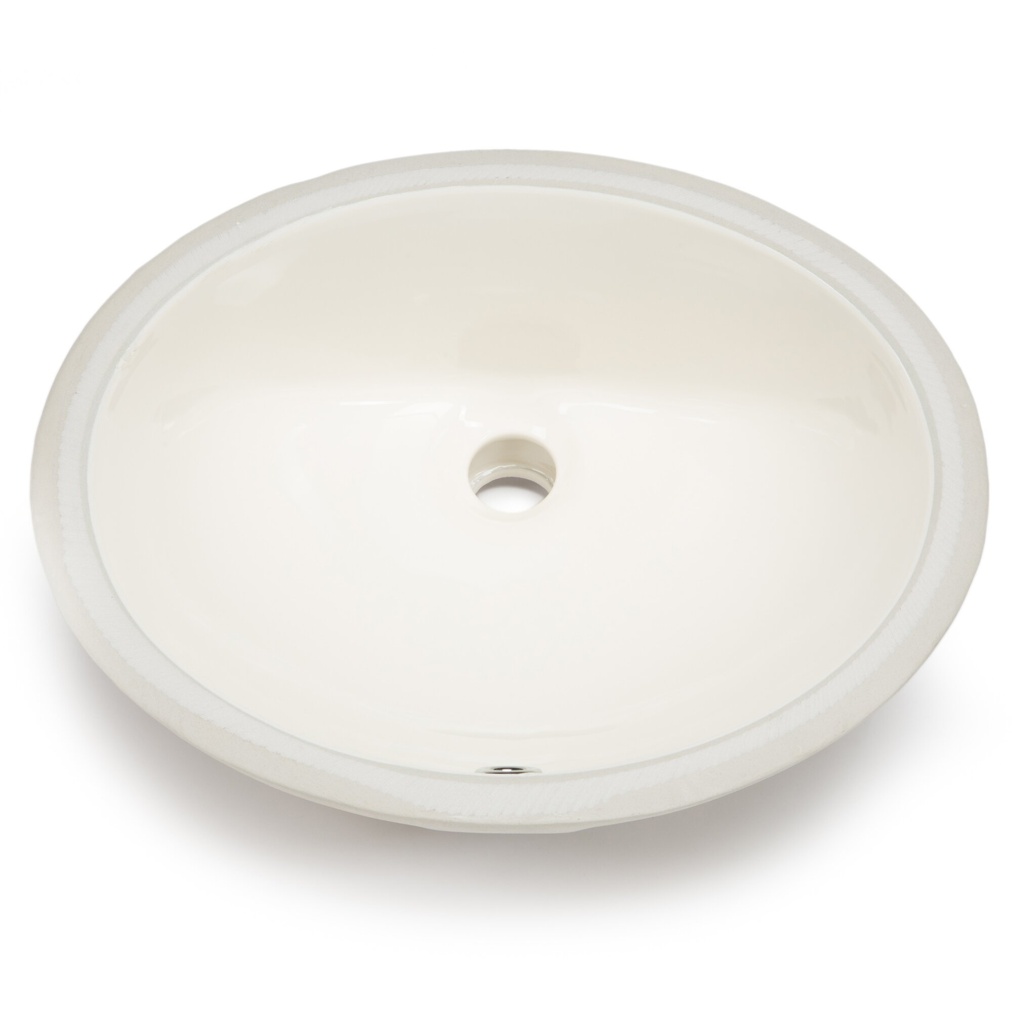 Hahn ceramic bowl oval undermount bathroom sink with overflow reviews wayfair Undermount bathroom sink bowl