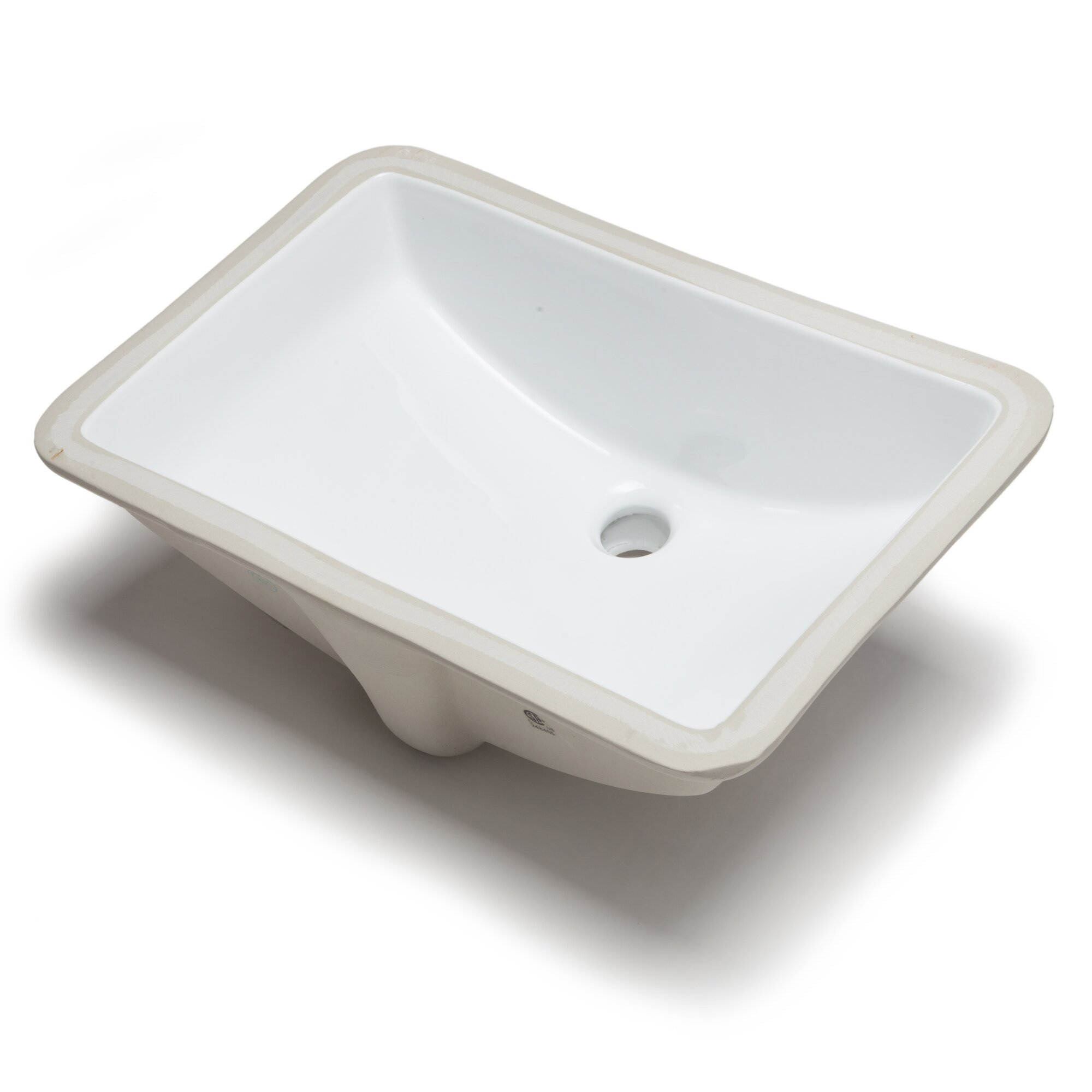 Hahn Ceramic Bowl Rectangular Undermount Bathroom Sink