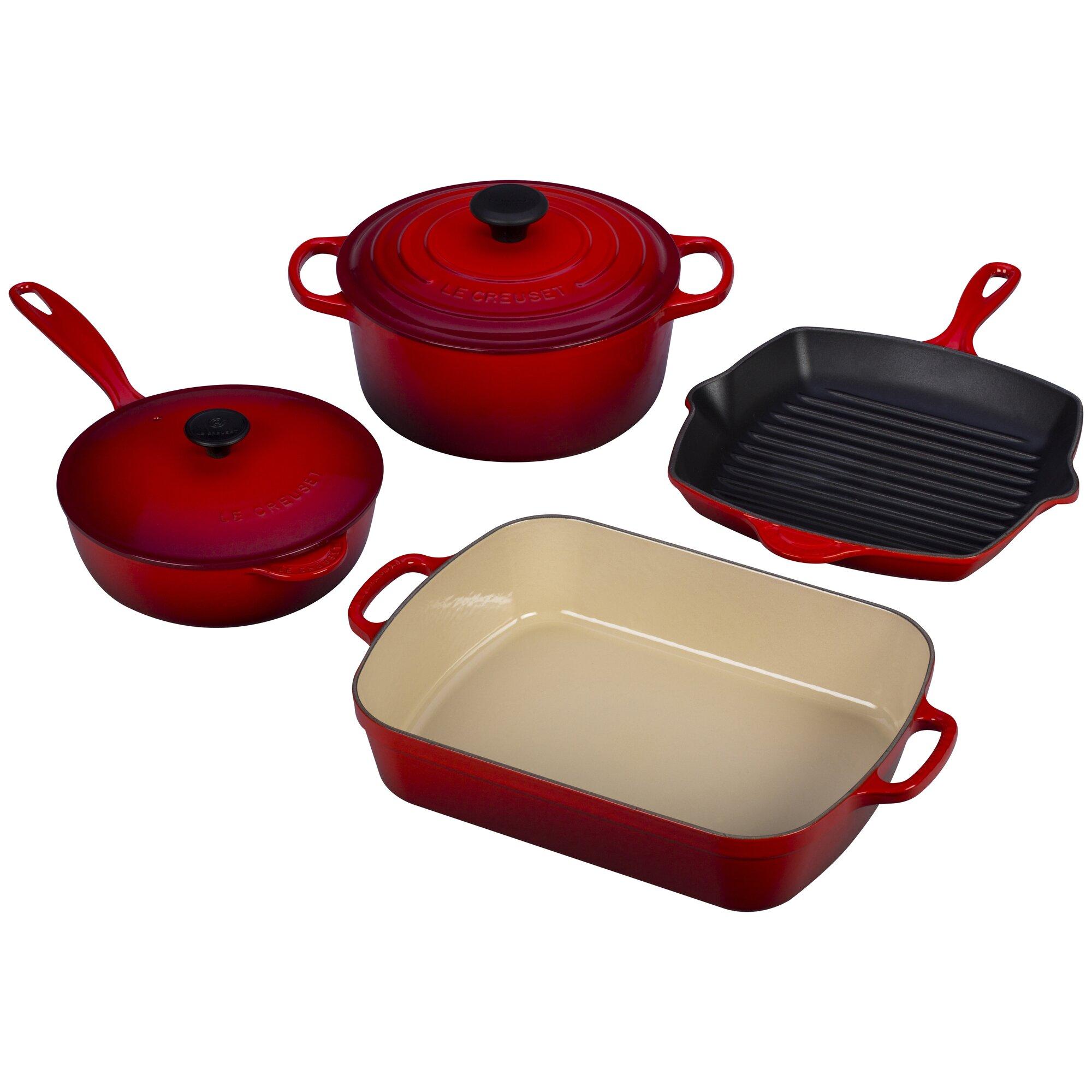 Le Creuset Cast Iron Signature 6 Piece Cookware Set & Reviews ...
