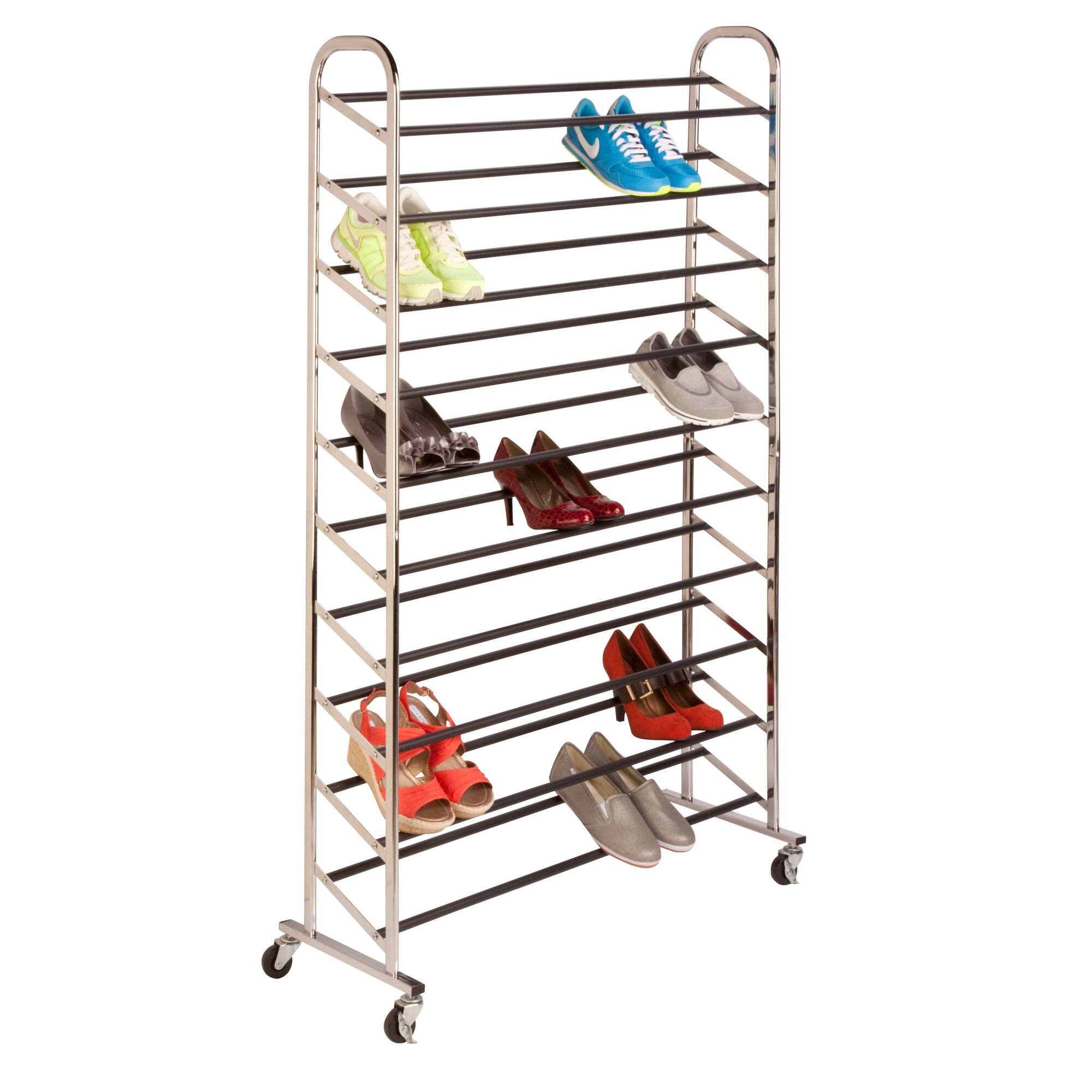 wayfair basics wayfair basics rolling 10 tier shoe rack reviews. Black Bedroom Furniture Sets. Home Design Ideas