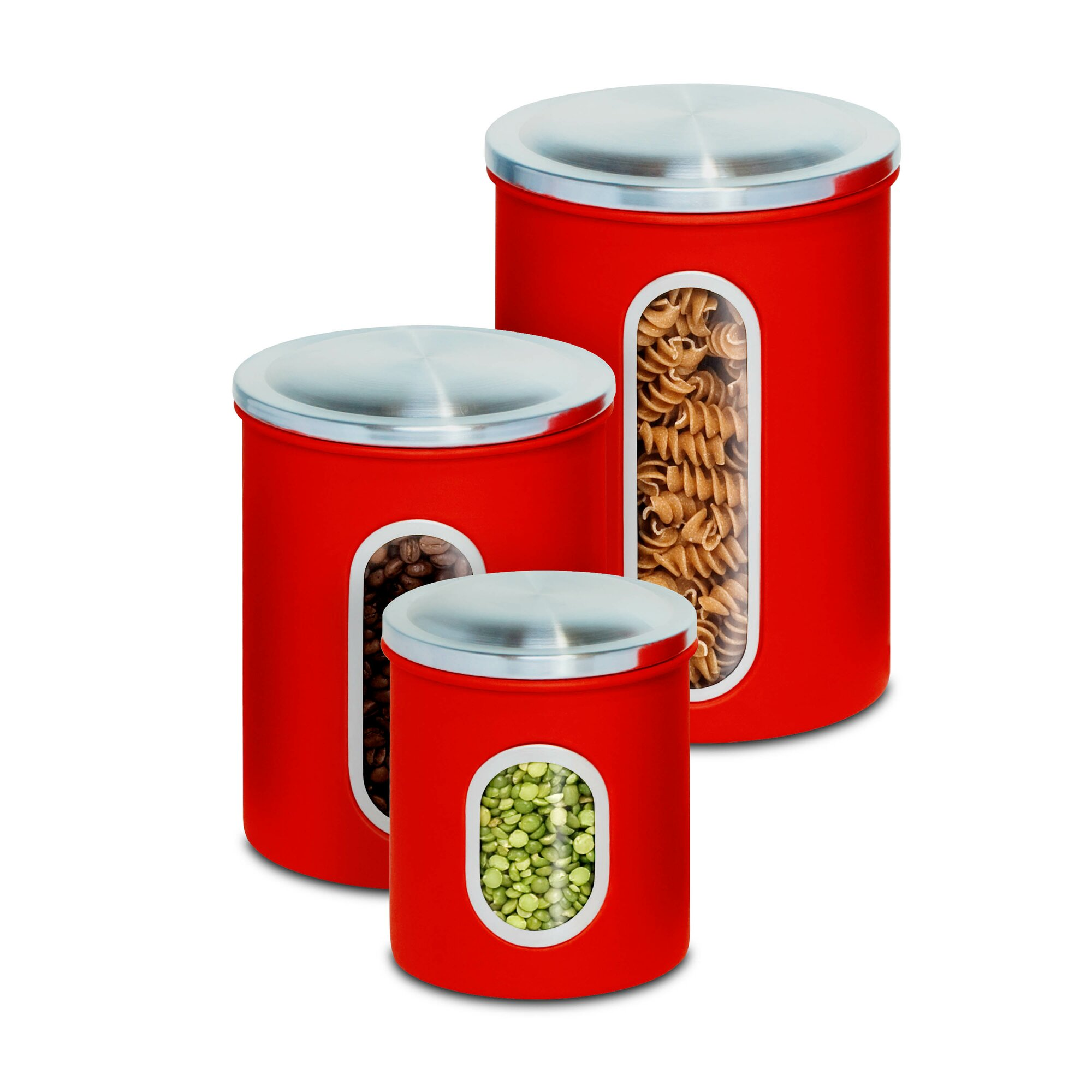 honey can do 3 piece kitchen canister set reviews