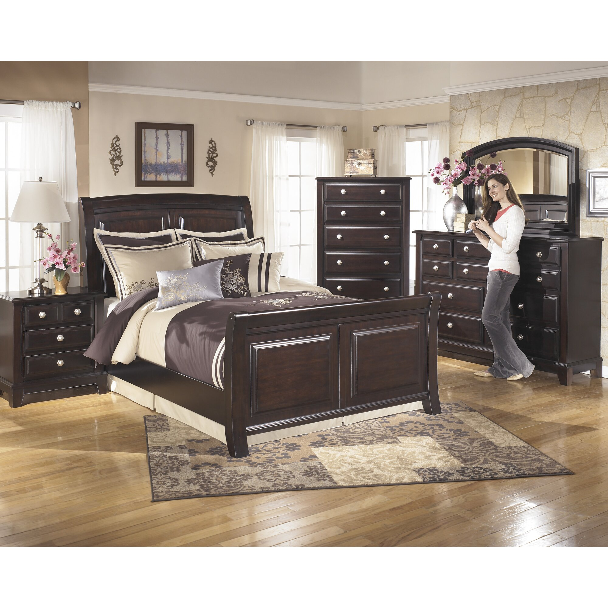 Signature Design By Ashley Ridgley Sleigh Customizable Bedroom Set Amp Reviews Wayfair