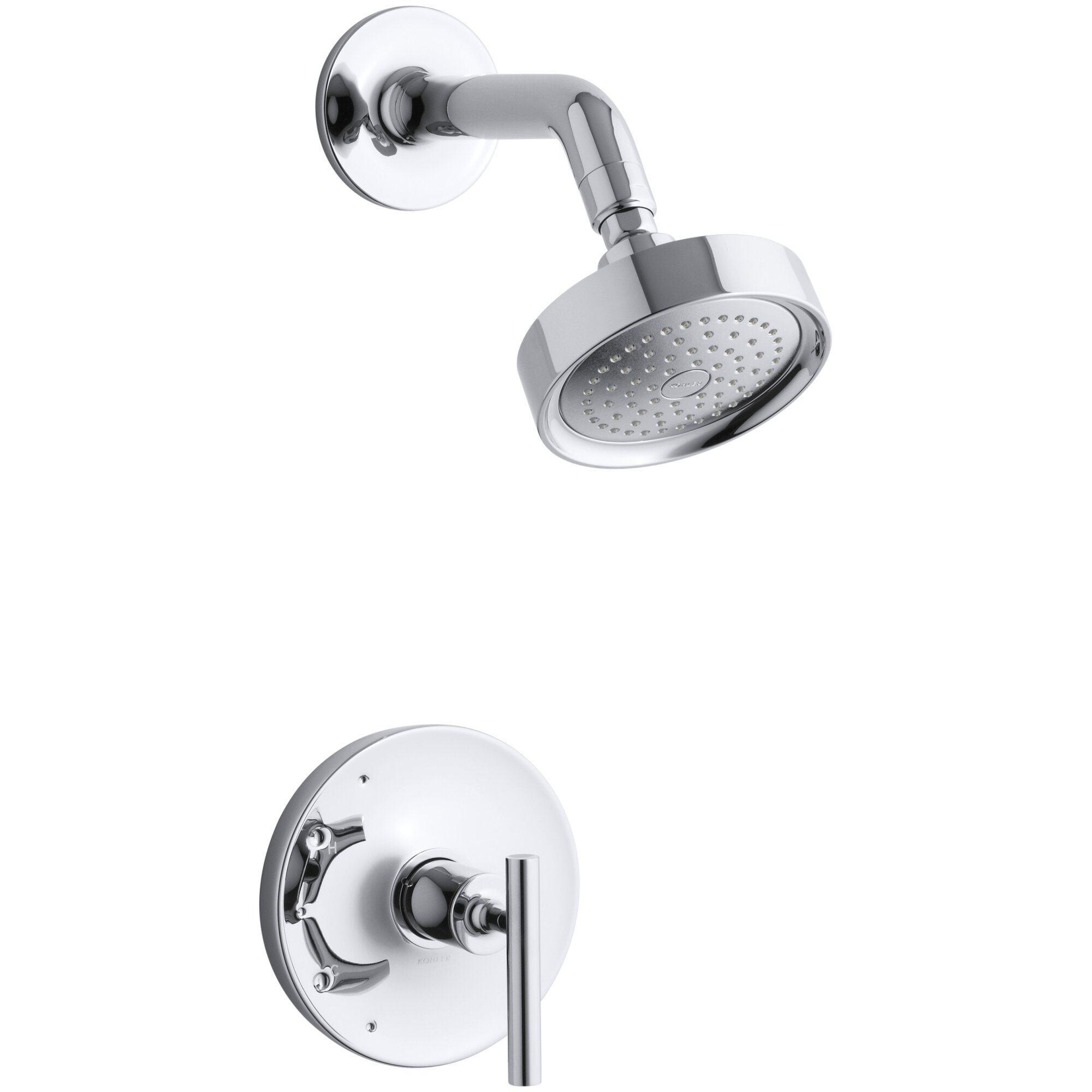 Kohler Purist Rite-Temp Pressure-Balancing Shower Faucet Trim with ...