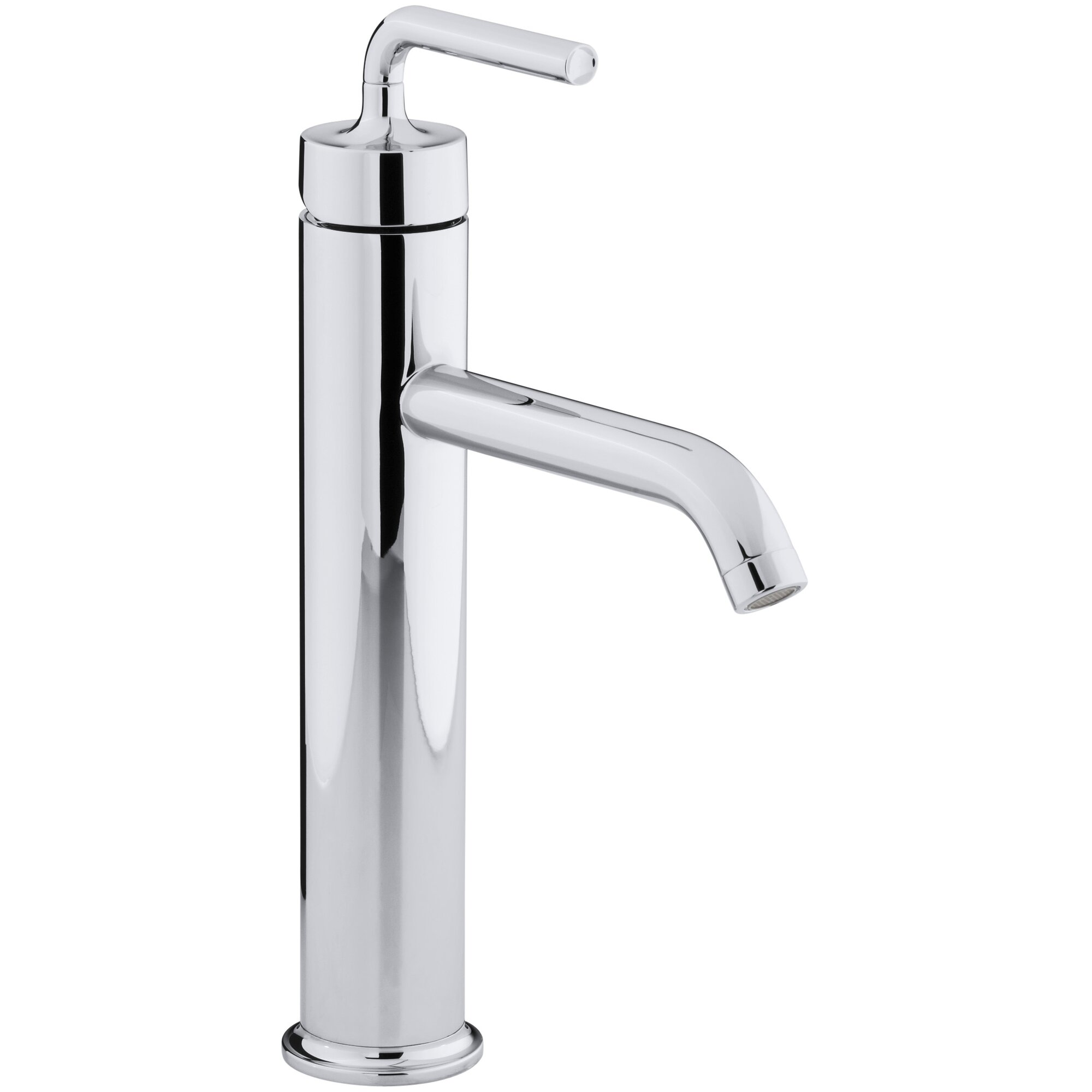 Purist Tall Single Hole Bathroom Sink Faucet With Straight Lever Handle