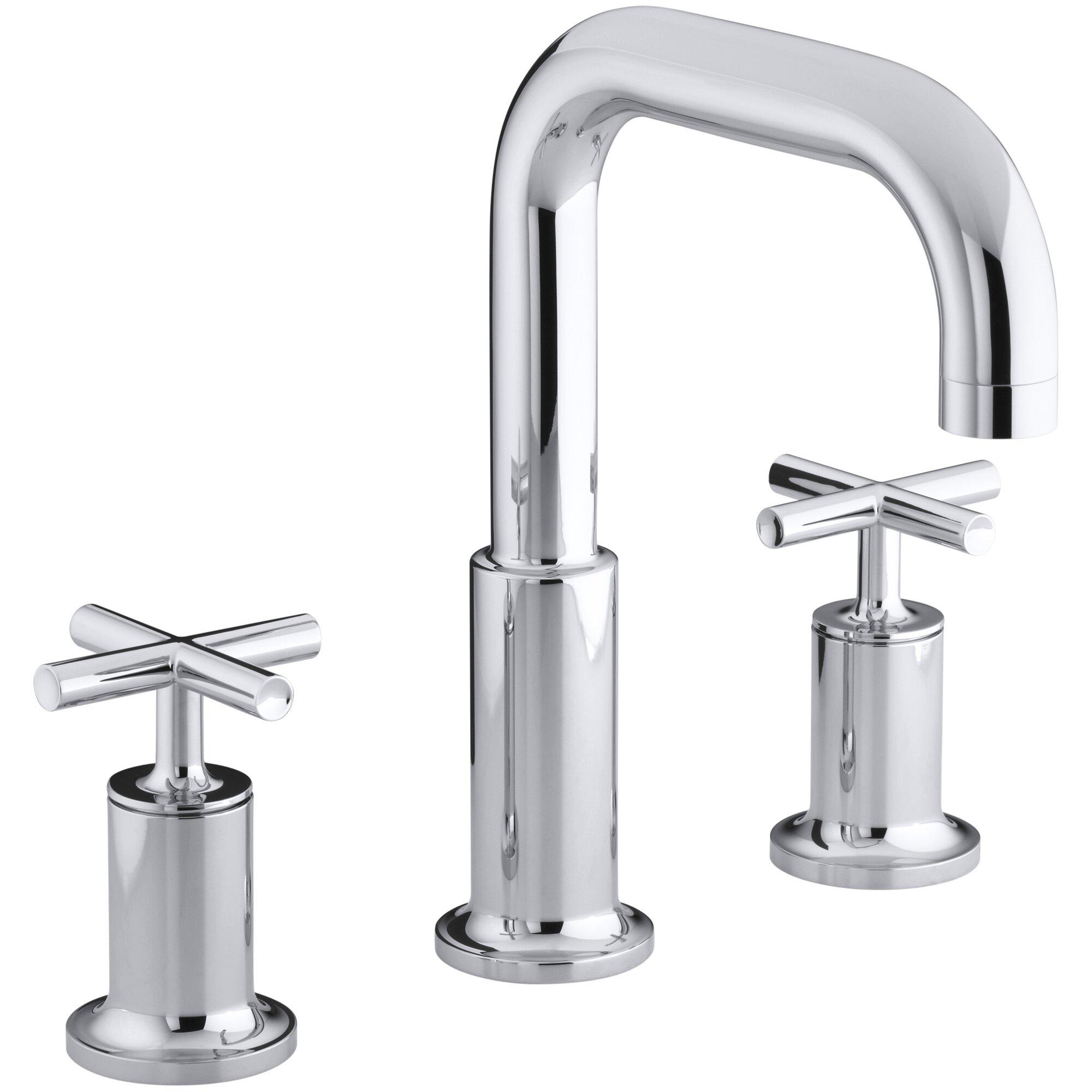 Cross Handle Bathroom Faucet Kohler Purist Deck Mount Bath Faucet Trim For High Flow Valve With