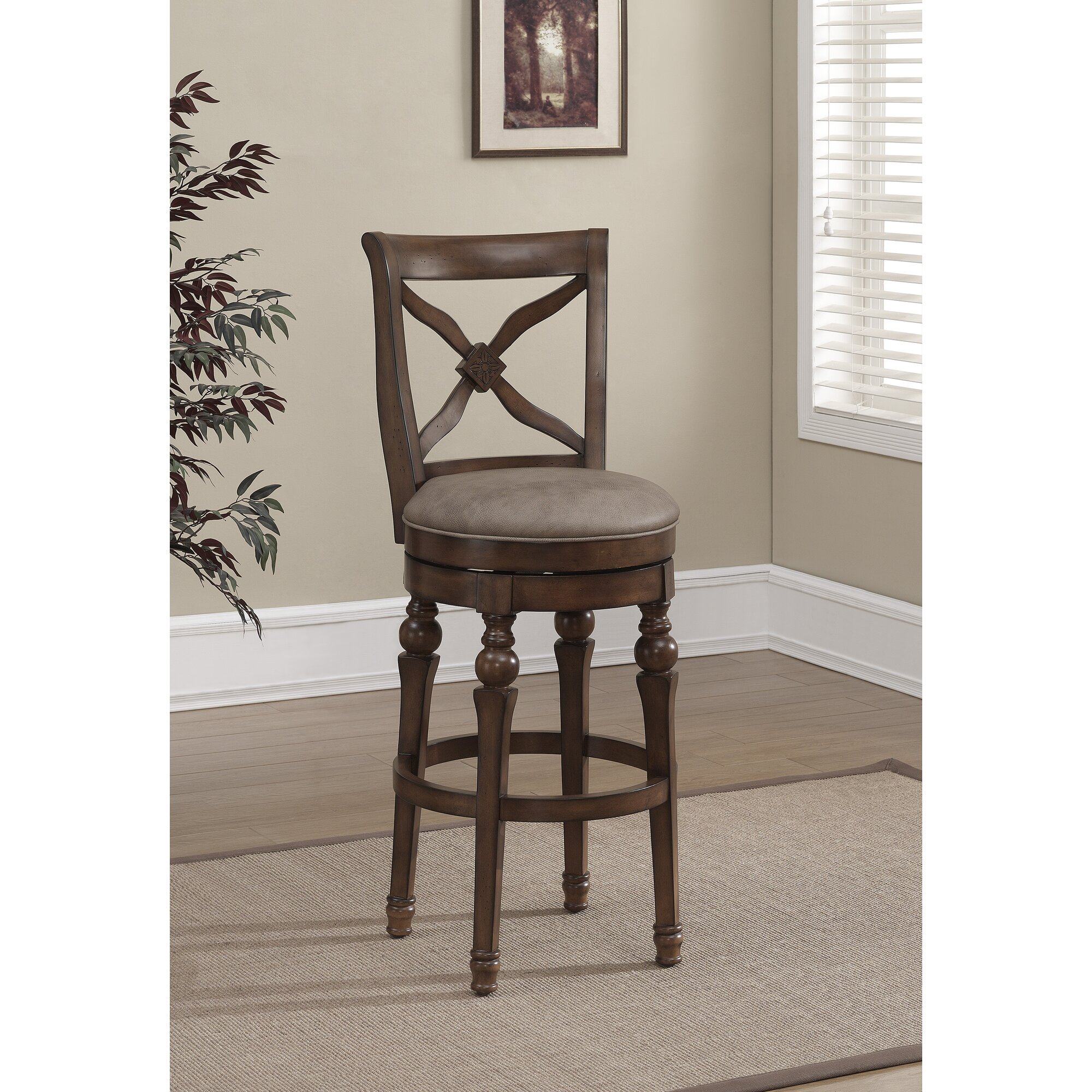 American Heritage Livingston 26u0026quot; Swivel Bar Stool u0026 Reviews : Wayfair
