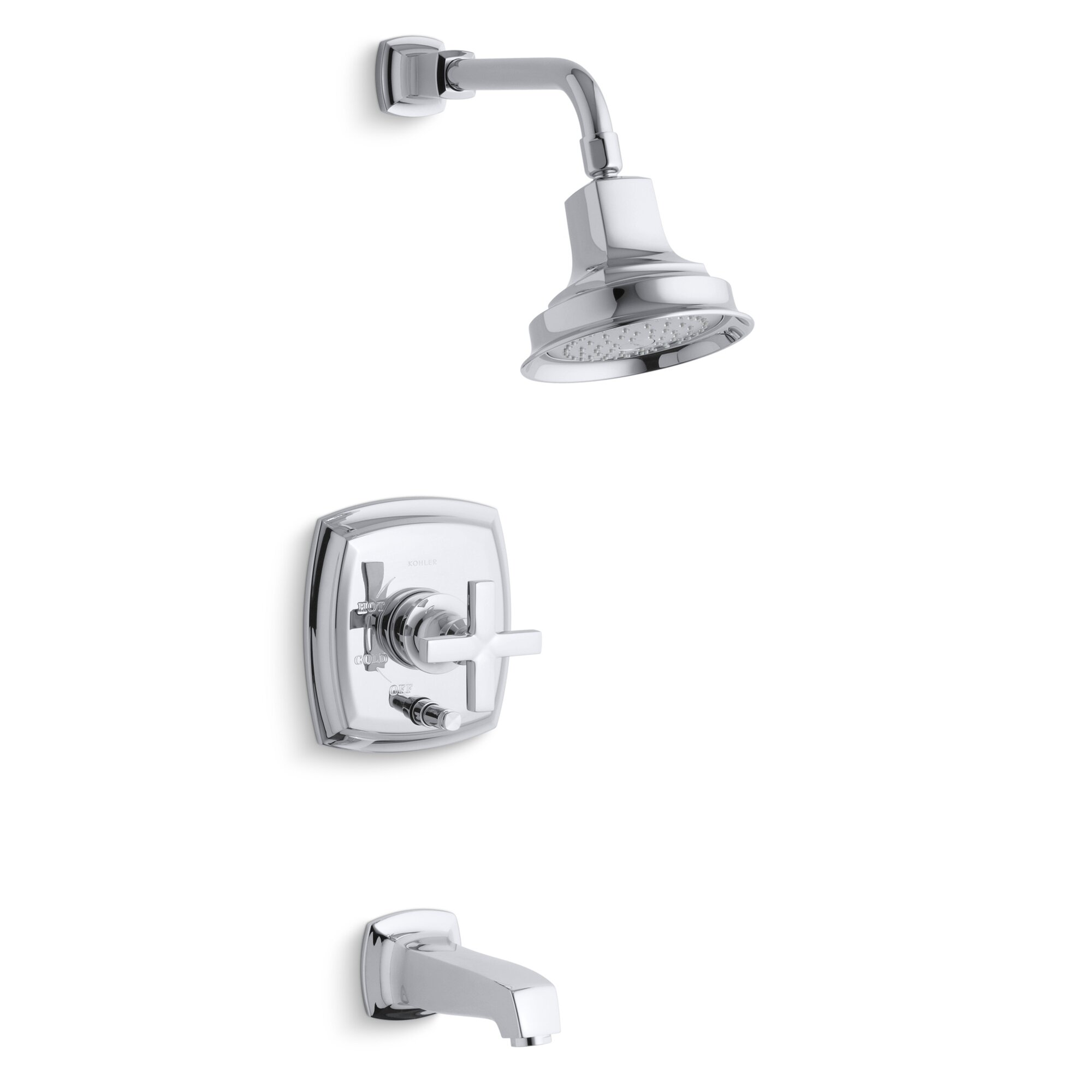 Kohler Margaux Rite-Temp Pressure-Balancing Bath and Shower Faucet ...
