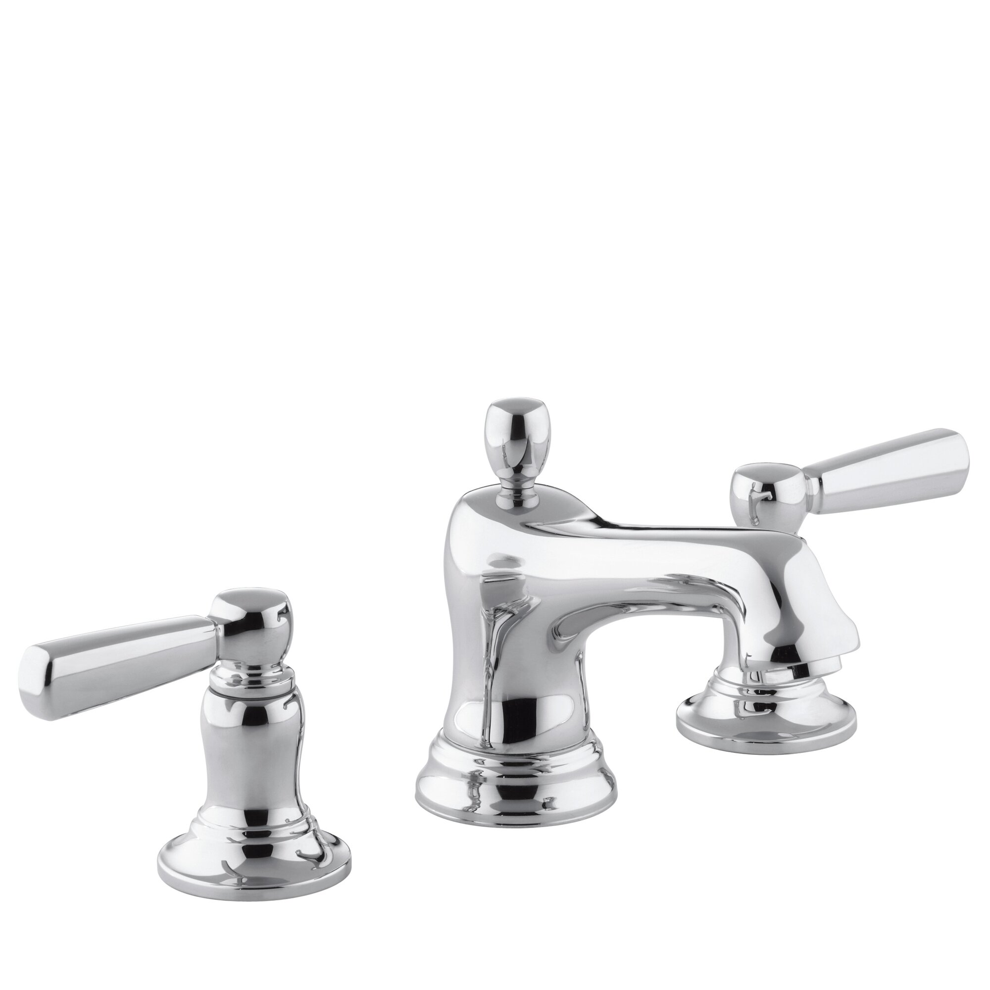 Bancroft Widespread Bathroom Sink Faucet With Metal Lever Handles