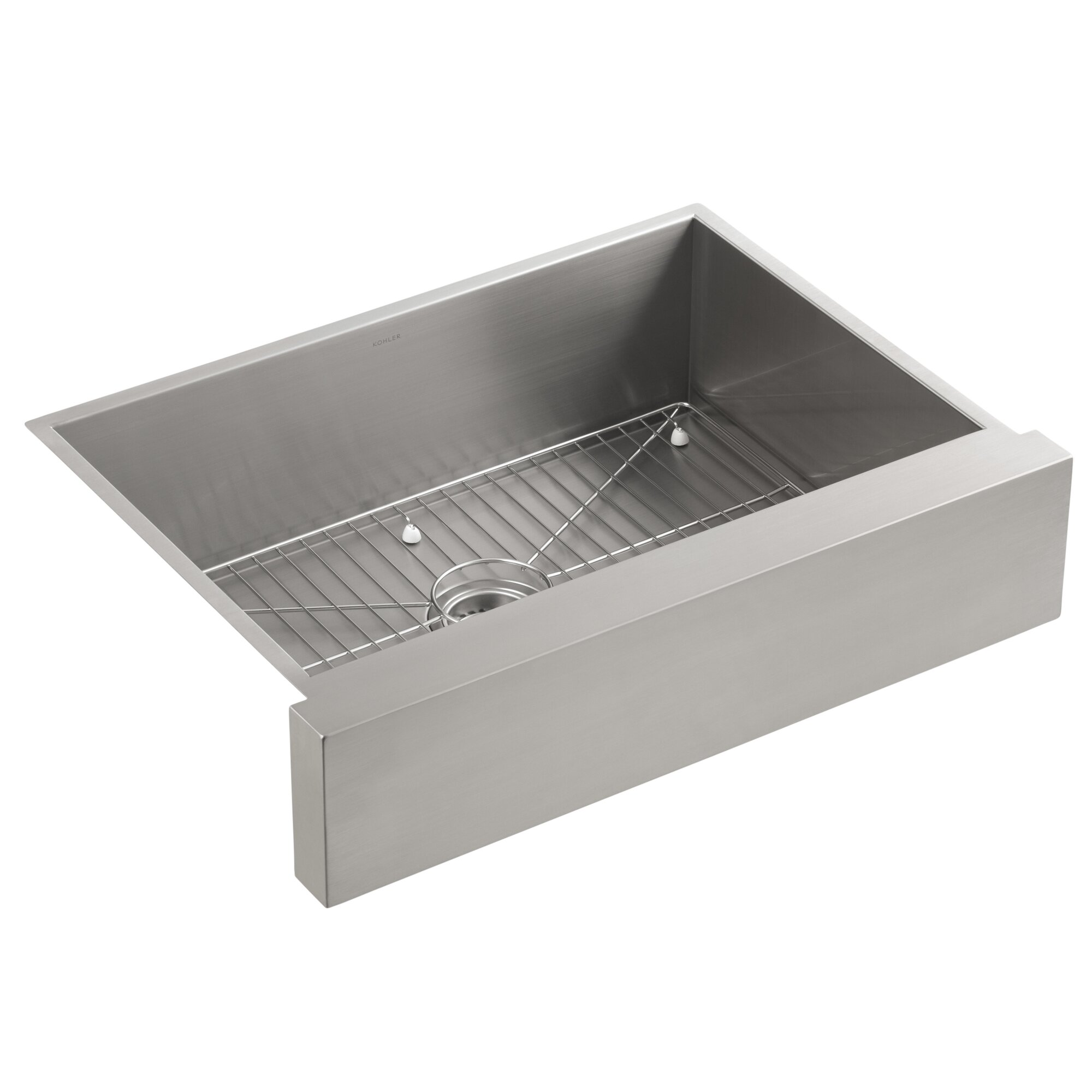 vault under mount single bowl kitchen sink stainless steel with shortened apron - Bowl Kitchen Sink