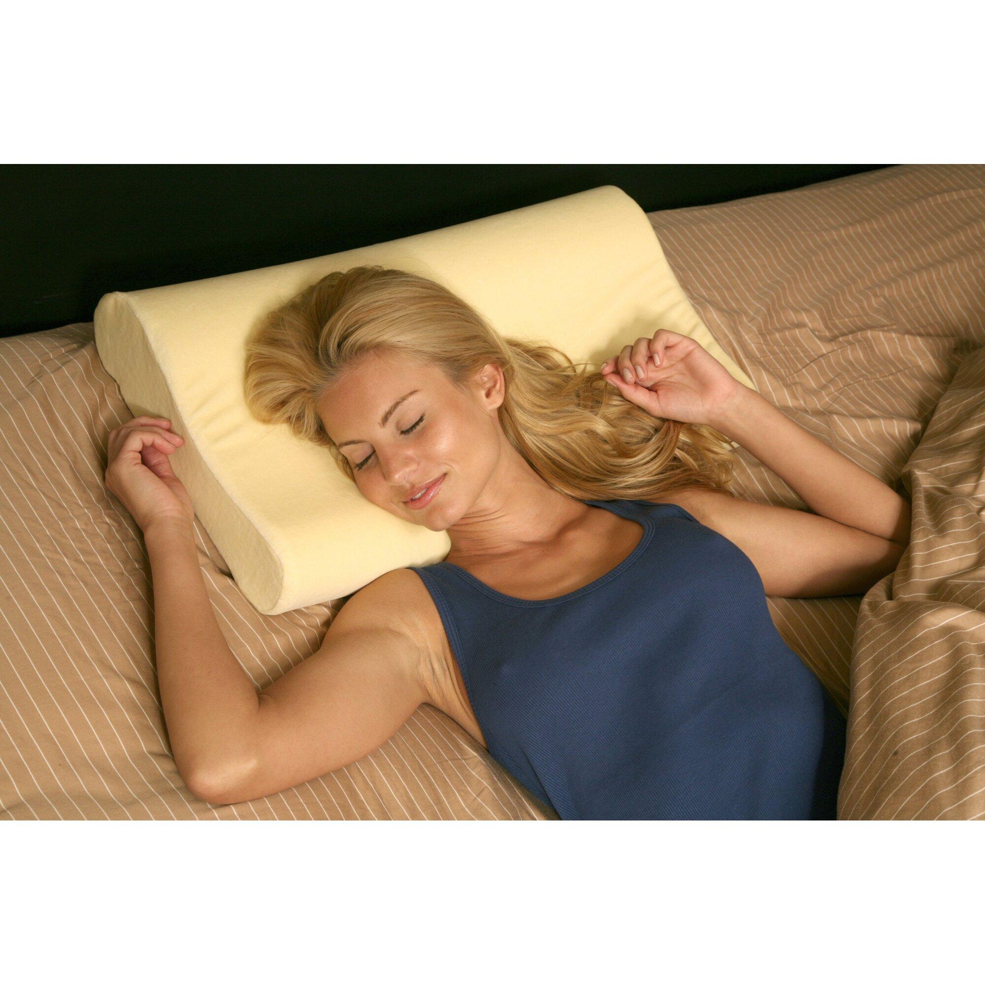 deluxe comfort deluxe memory foam contourneck pillow u0026 reviews deluxe comfort deluxe memory foam contour neck pillow reviews