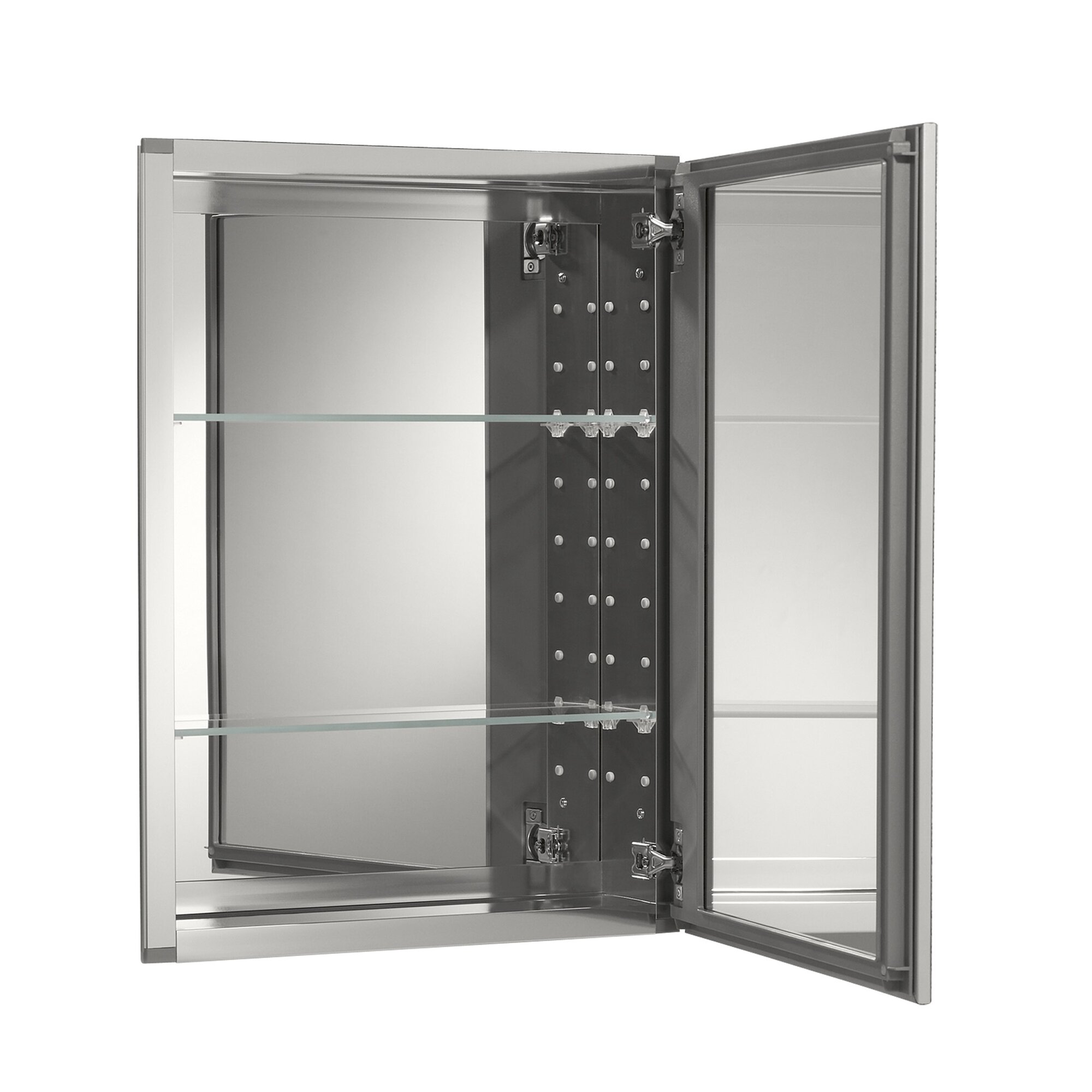20 X 26 Aluminum Mirrored Medicine Cabinet Reviews Allmodern