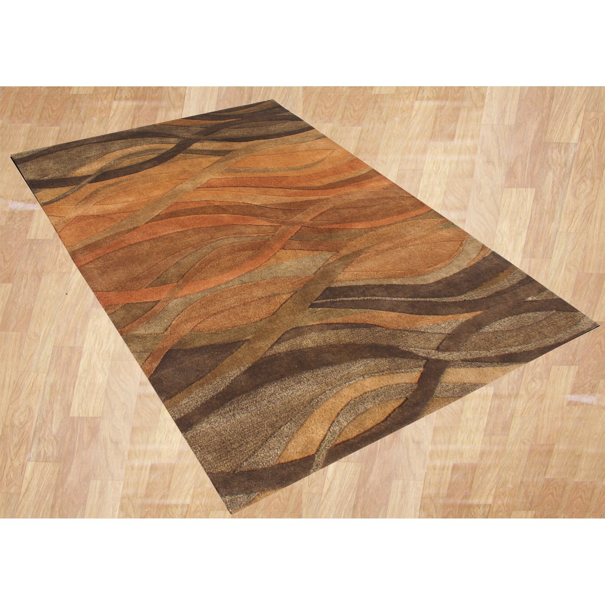James Bond Alliyah Abstract Brown Tan Area Rug Amp Reviews