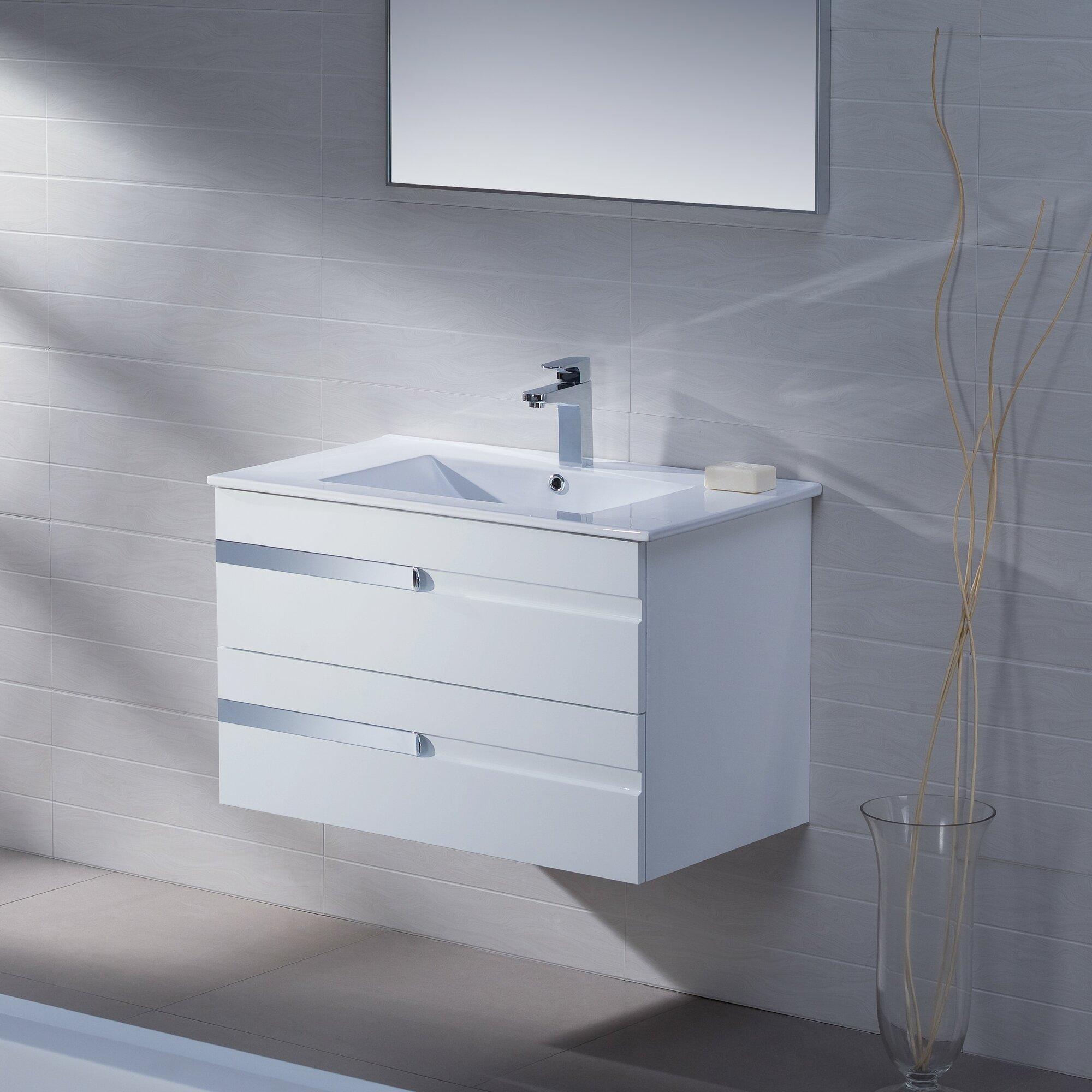 Adornus yasmine 32 single bathroom vanity set with mirror for Bathrooms r us reviews