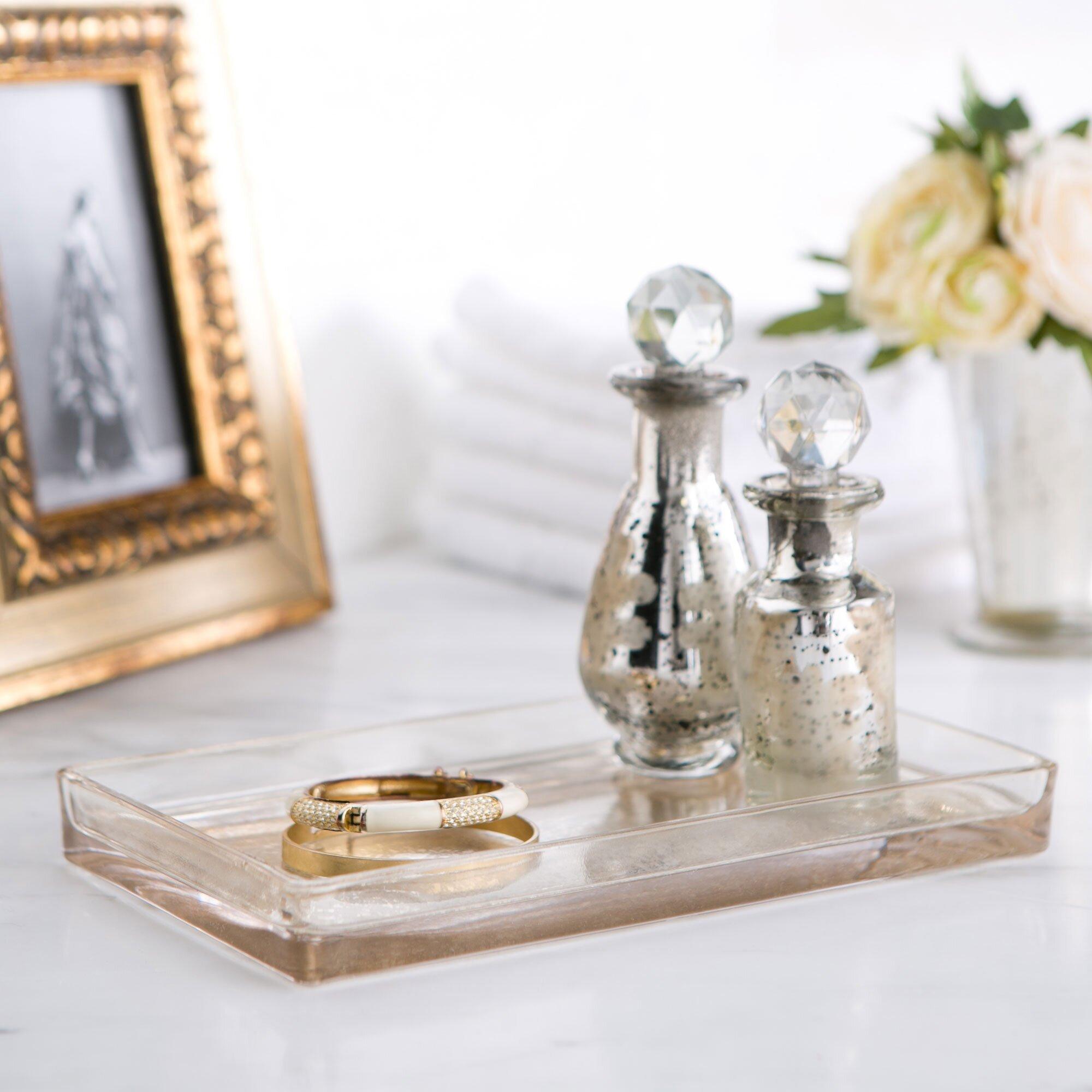 Birch Lane Mercury Glass Vanity Bathroom Accessory Tray Reviews Wayfair