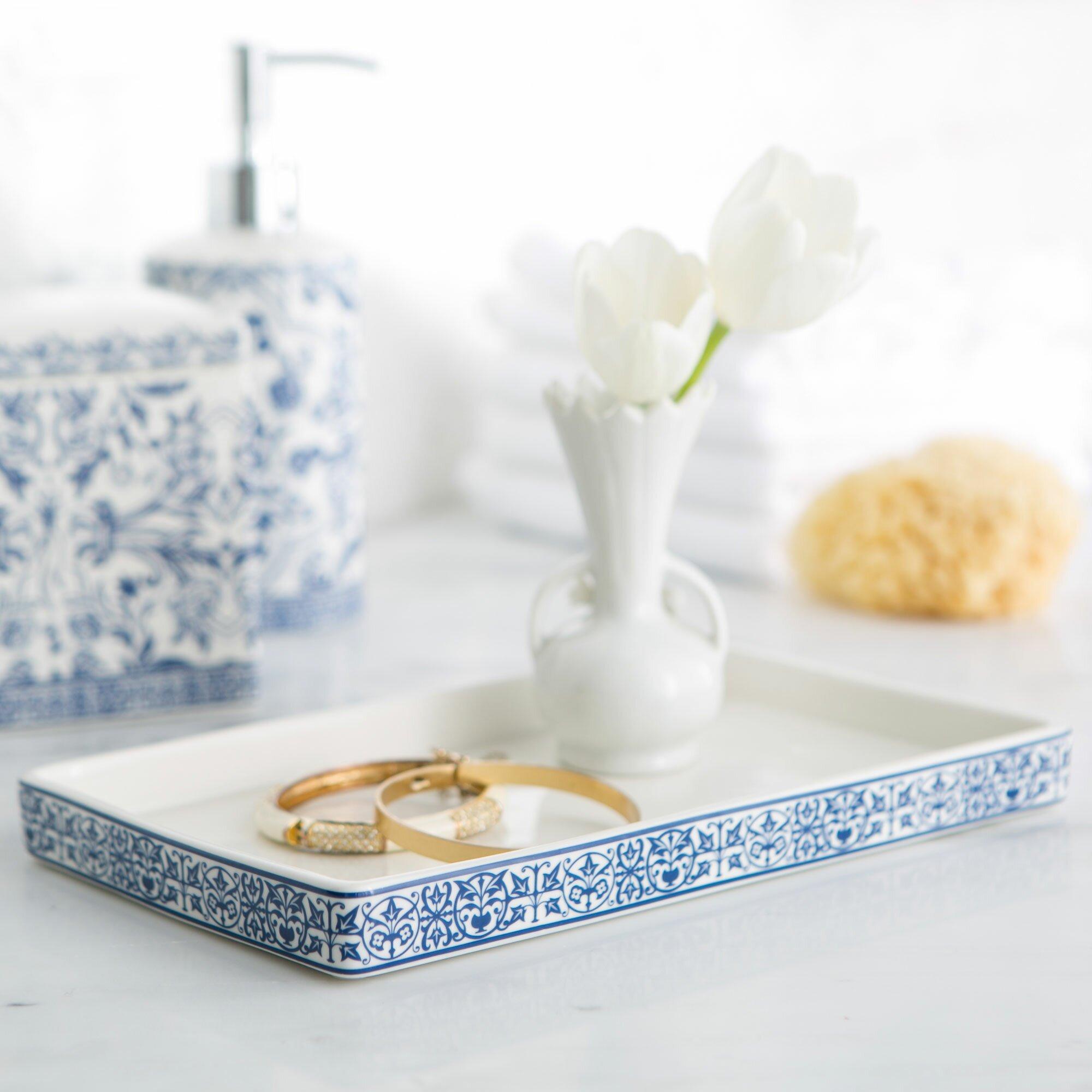 Birch lane porcelain bathroom accessory tray reviews wayfair - Find porcelain accessory authentic ...