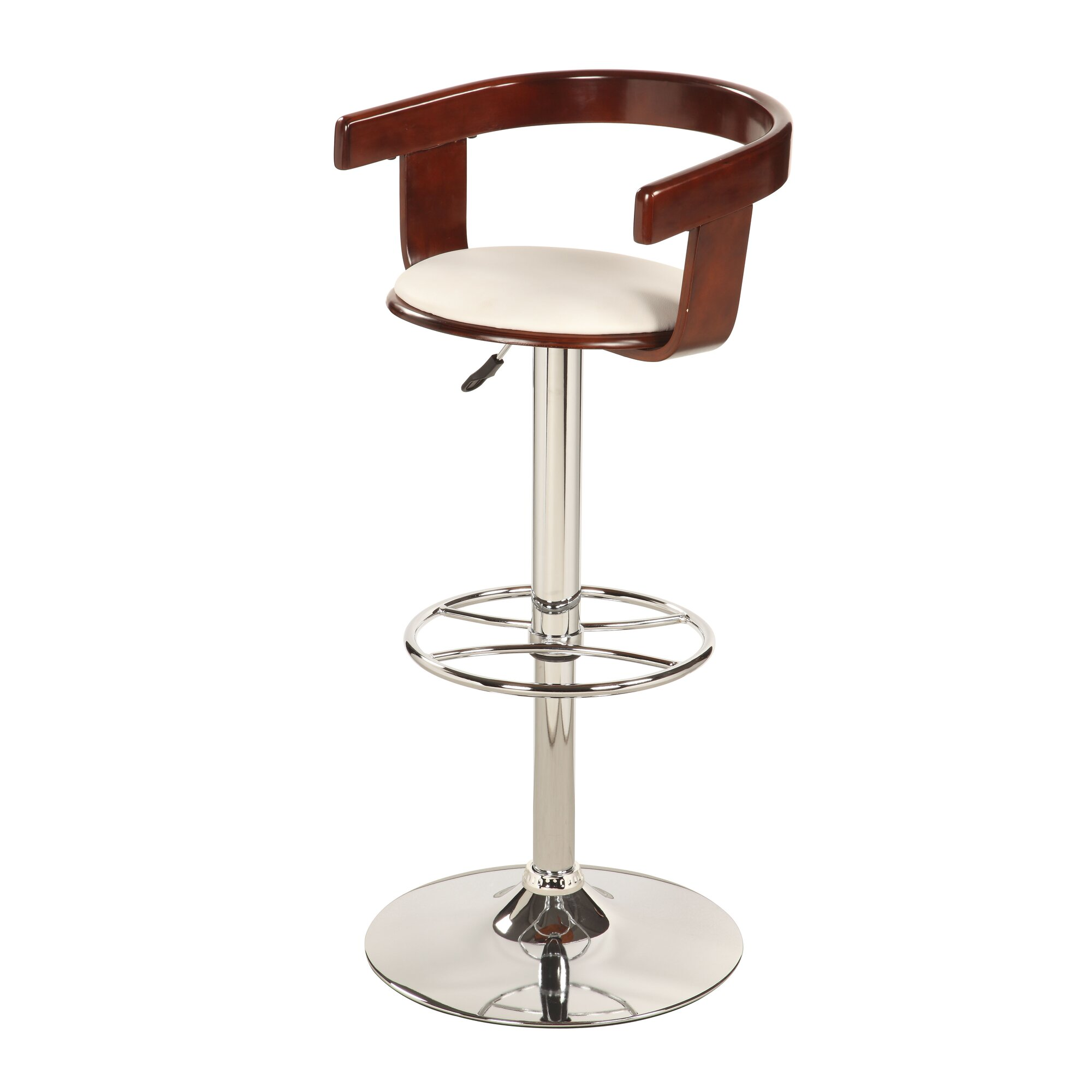 Chintaly Adjustable Height Swivel Bar Stool Amp Reviews
