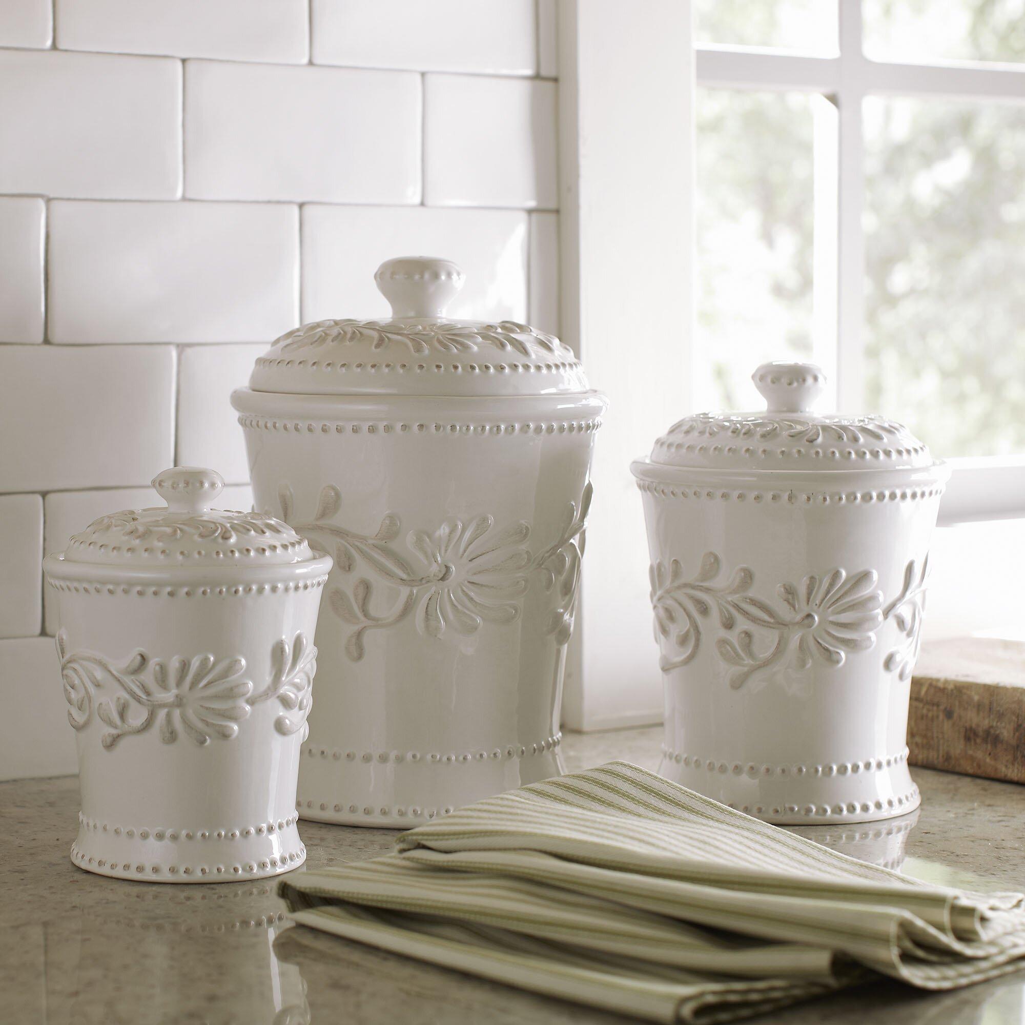 Newport 3 piece kitchen canister set reviews birch lane for Kitchen set 3 meter