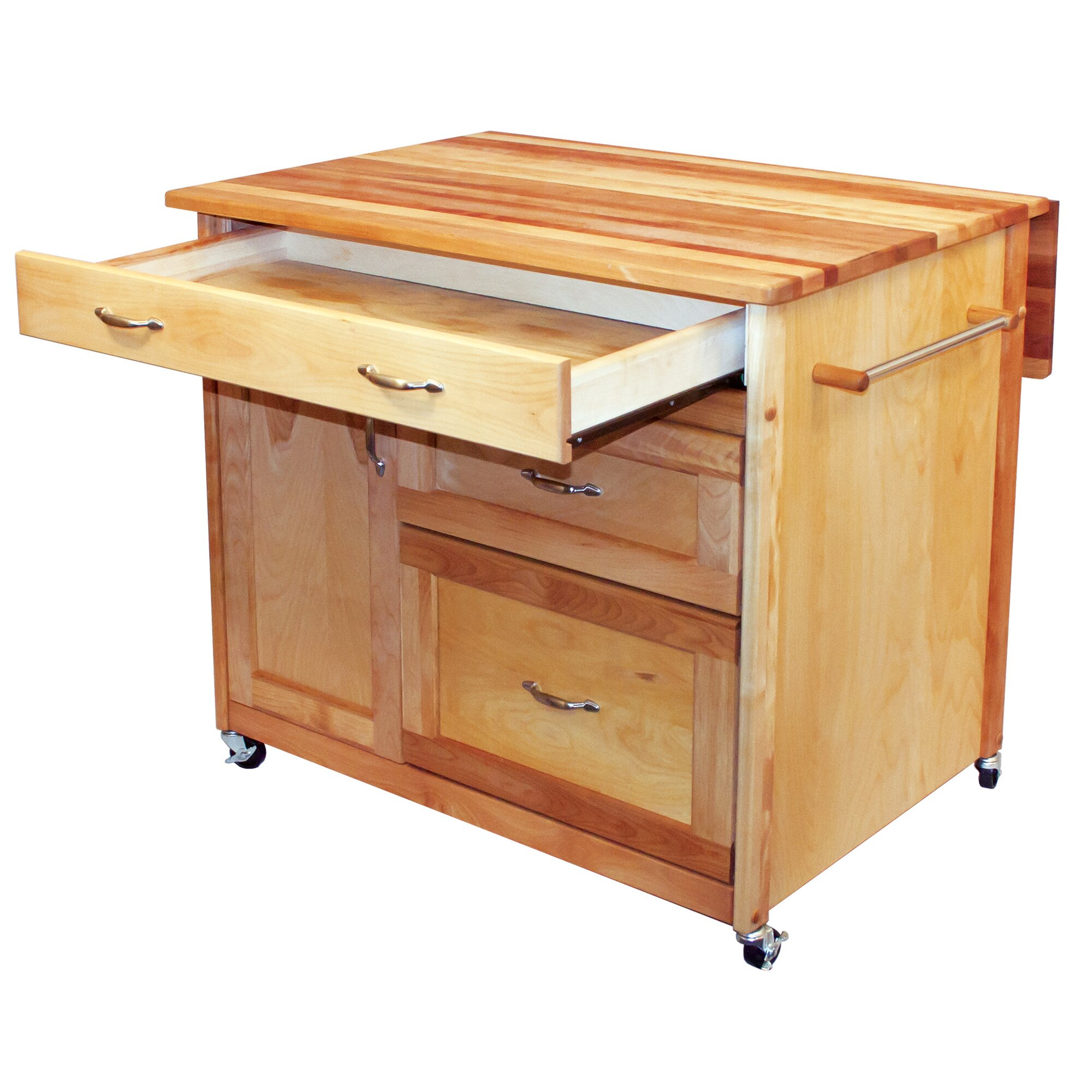 Haleakala Kitchen Island With Butcher Block Top : Catskill Craftsmen Kitchen Island with Butcher Block Top & Reviews Wayfair