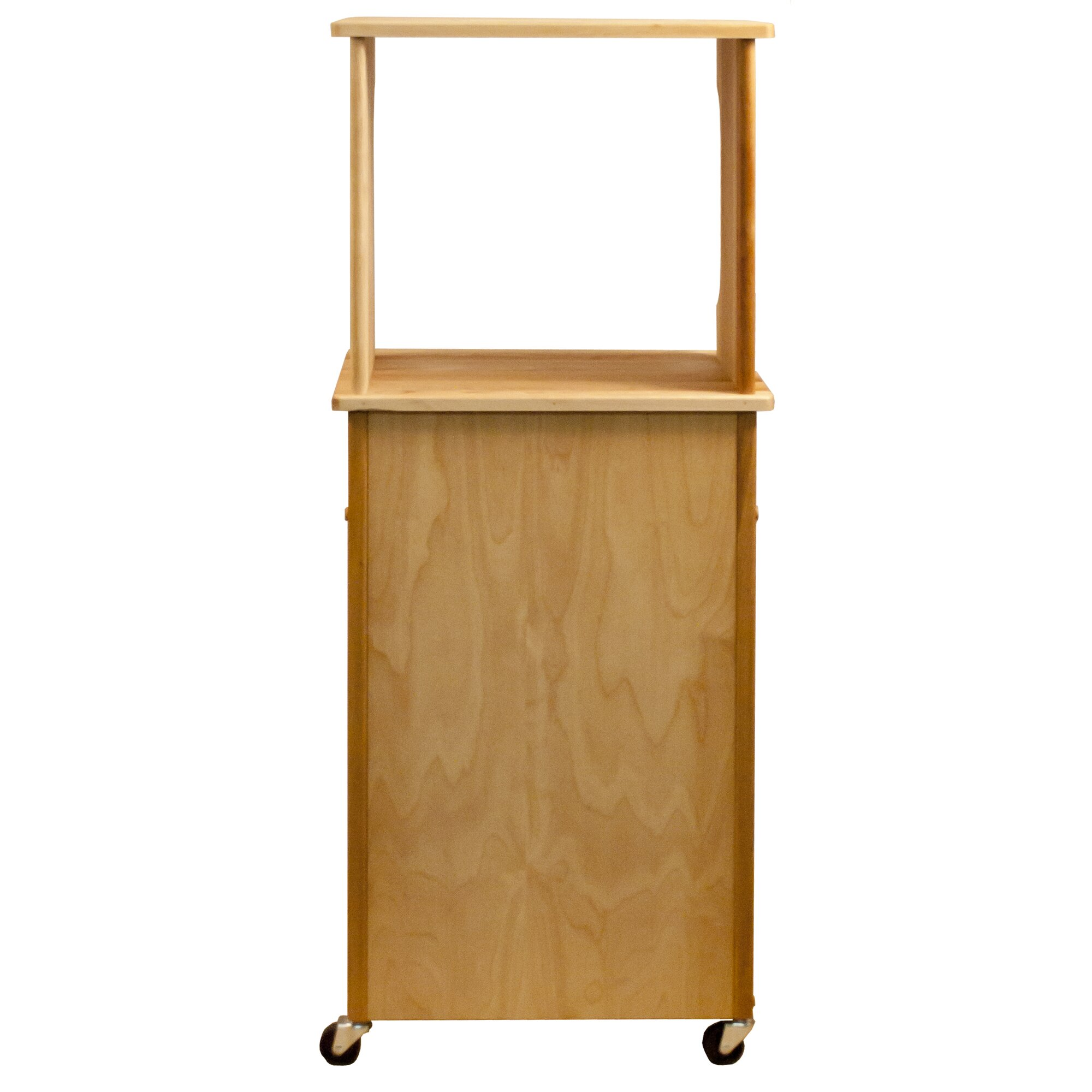 Catskill Craftsmen Microwave Cart With Butcher Block Top