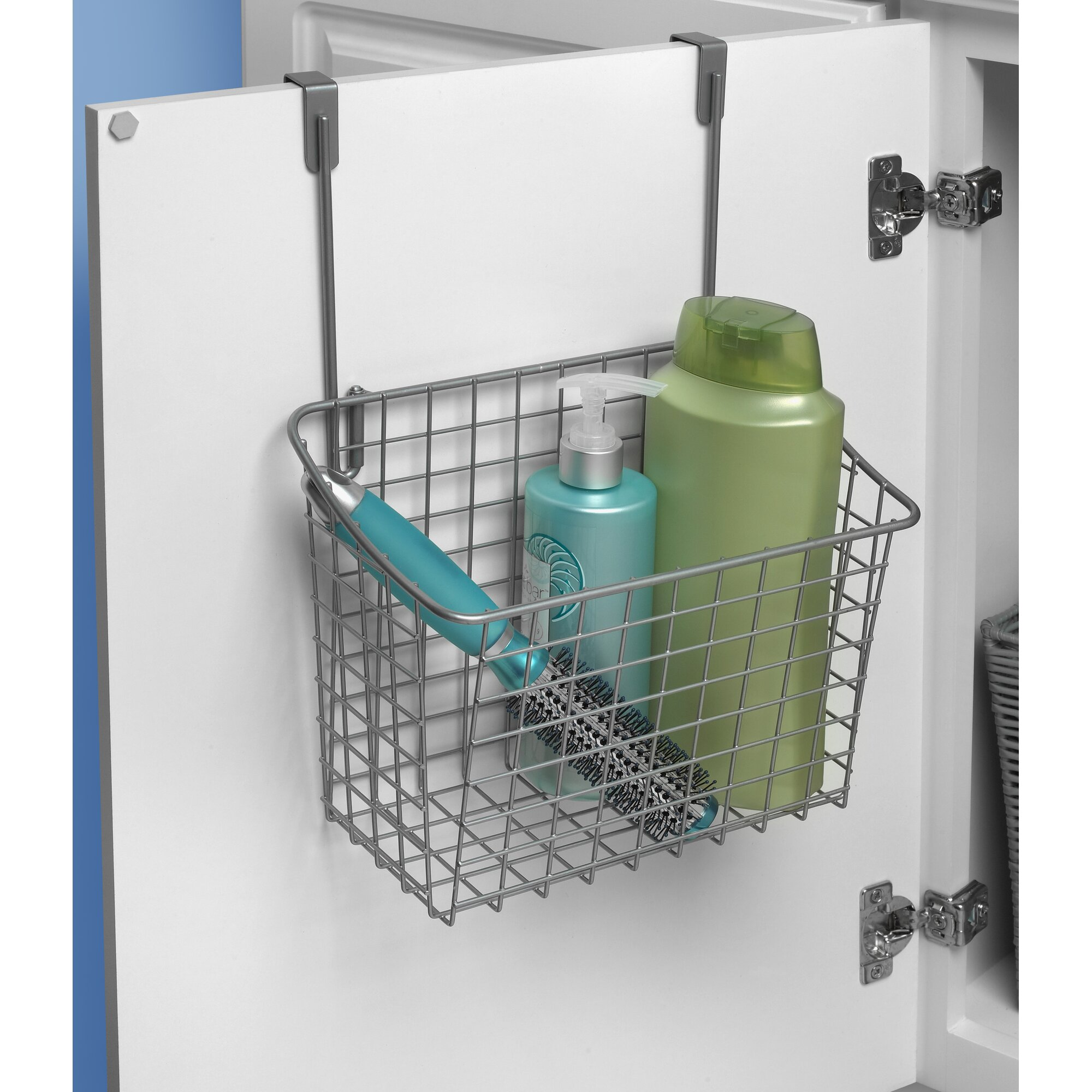 Bathroom cabinet door organizer - Large Over The Cabinet Door Organizer