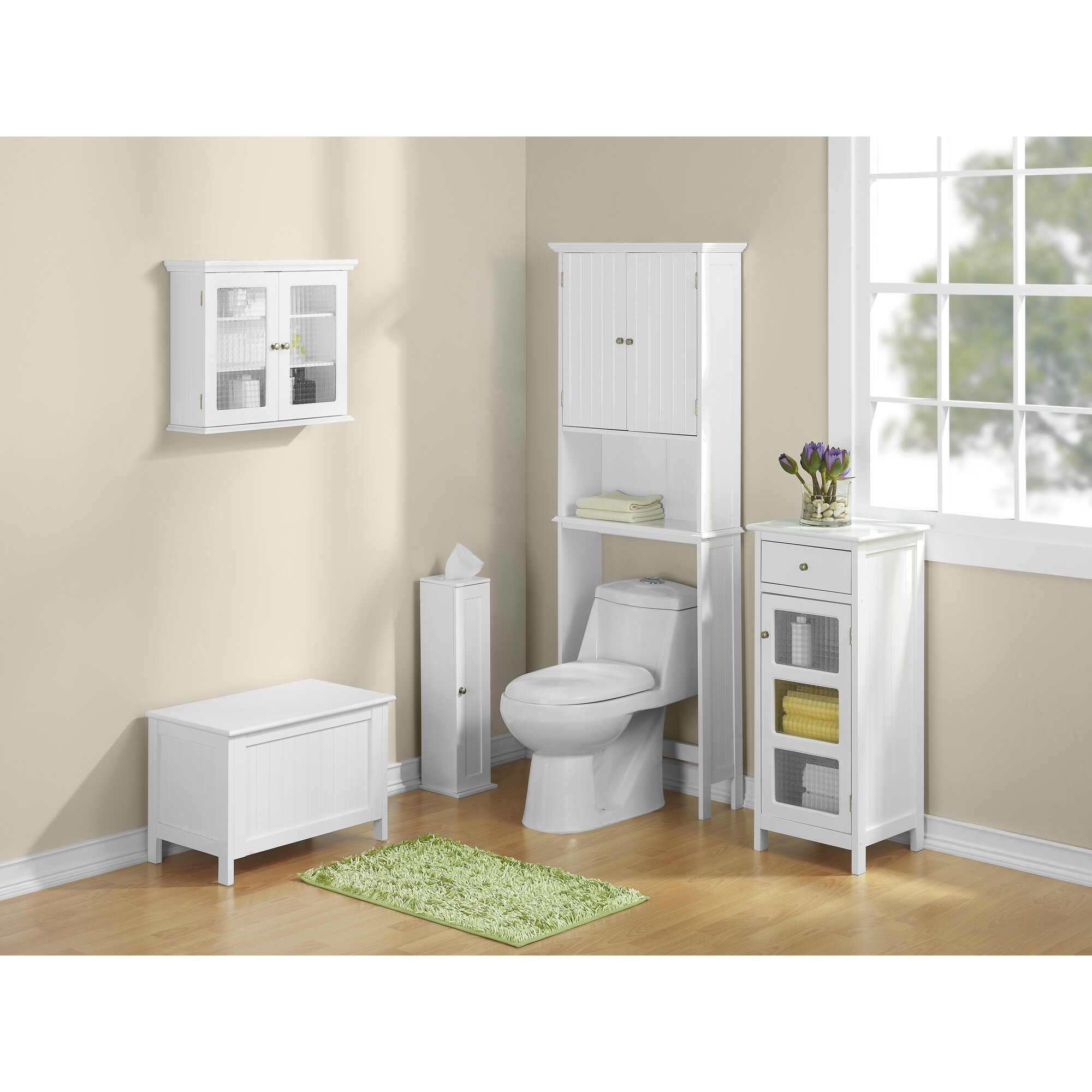 Jenlea Bathroom Space Saver 24 5 W X 62 5 H Over The Toilet Storage Reviews Wayfair