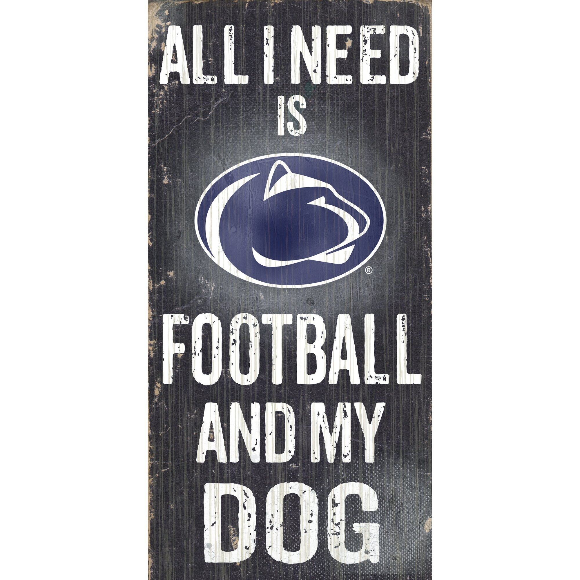 Fan Creations Ncaa Football And My Dog Textual Art Plaque