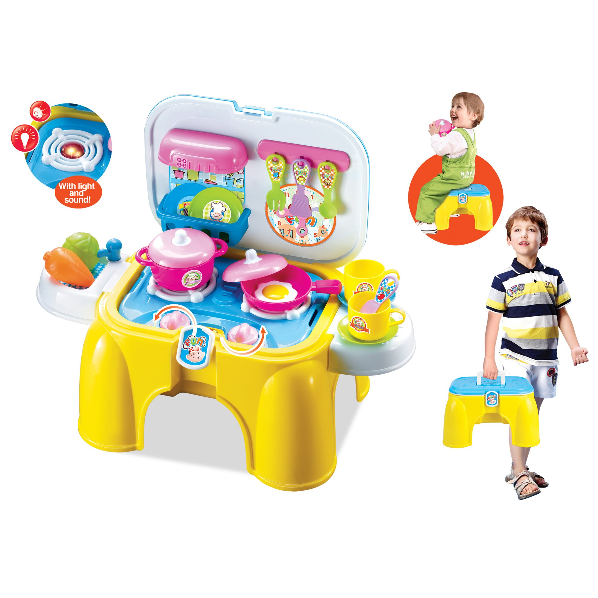 Berry toys my first portable and carry kitchen play set for First kitchen set