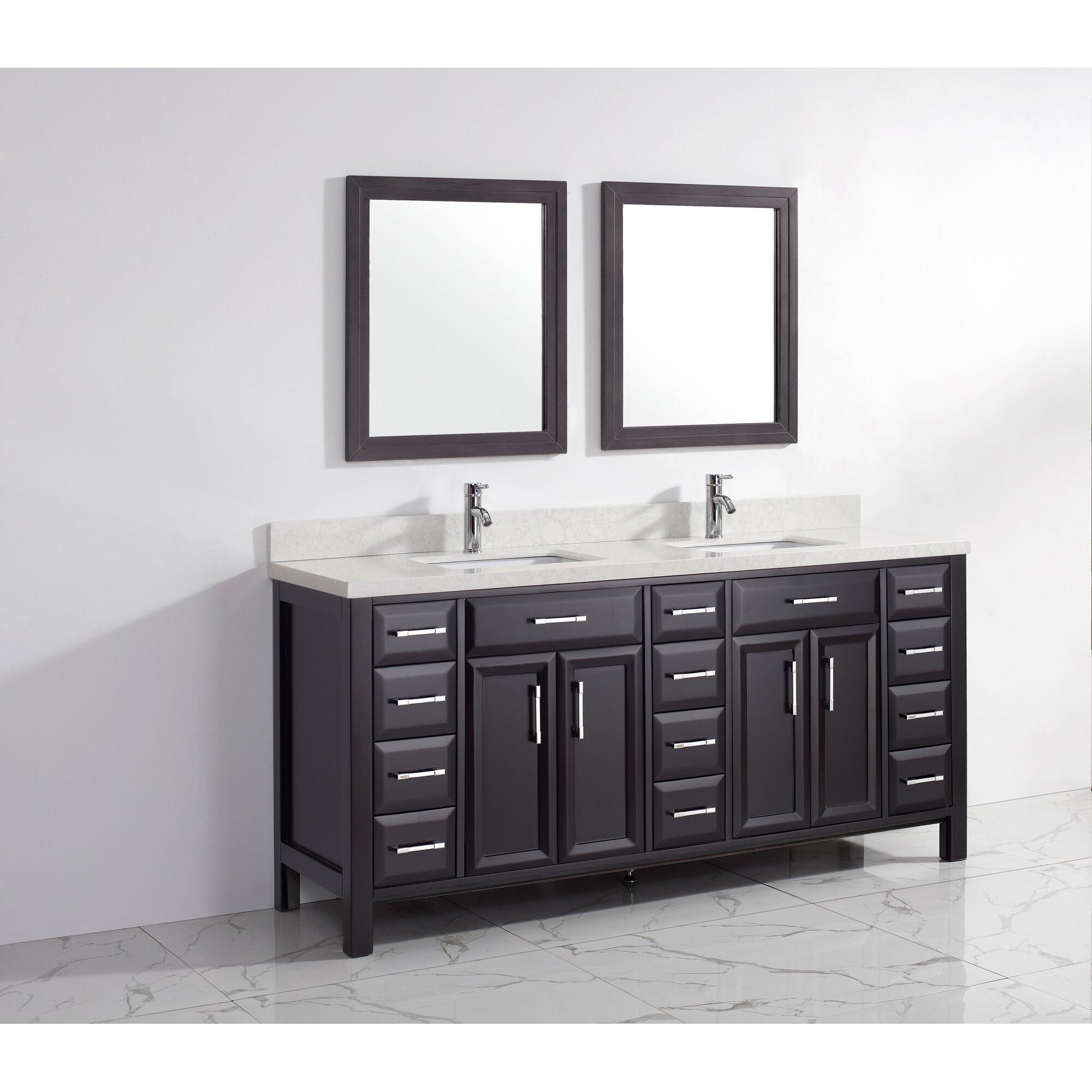 Bauhaus Bath Caledonia 75 Double Bathroom Vanity Set Reviews