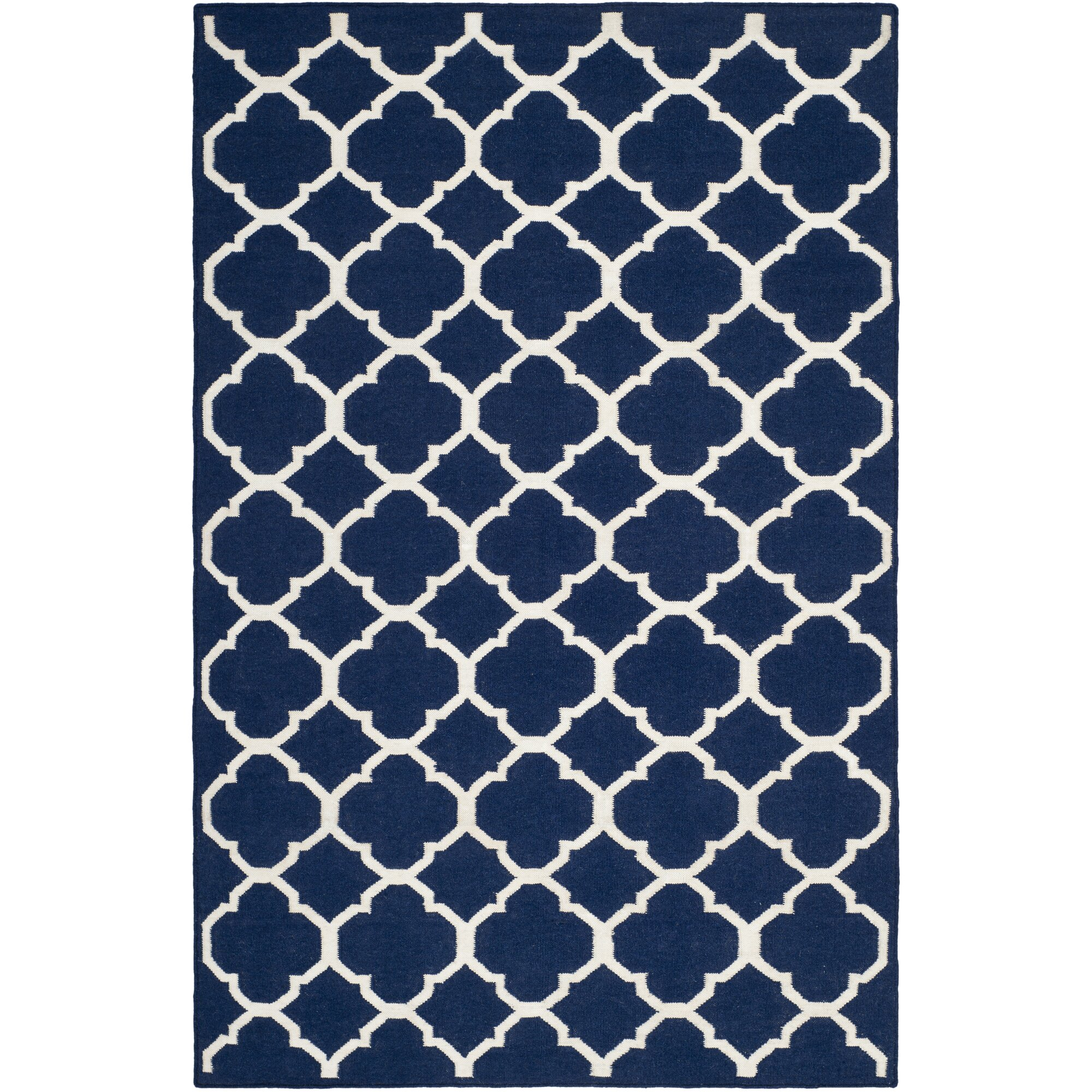 Safavieh Handgefertigter Teppich Dhurrie in Navyblau