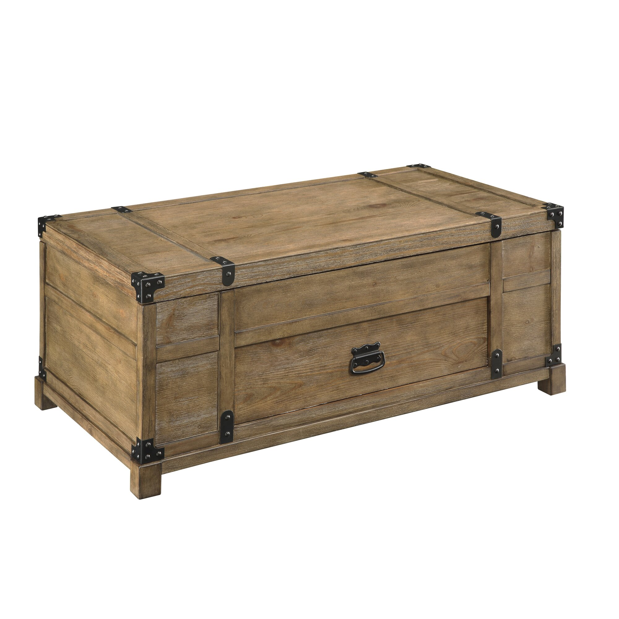 Industrial Storage Coffee Table Review: Shelton Storage Coffee Table & Reviews