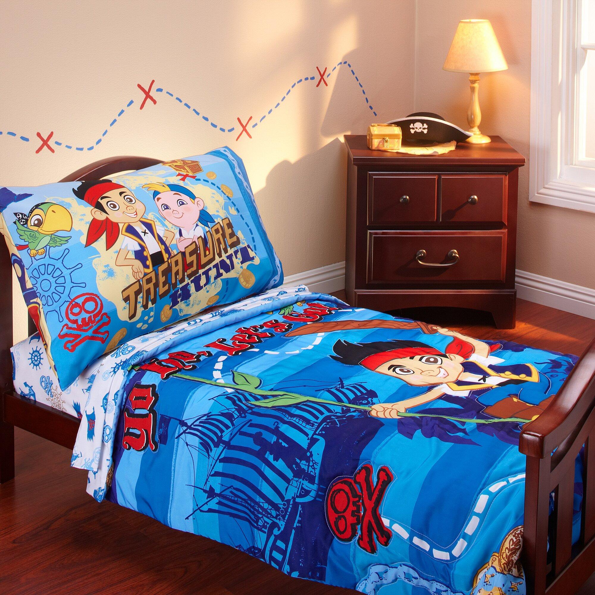 Disney Jake and the Neverland Pirates 4 Piece Toddler Bedding Set ...