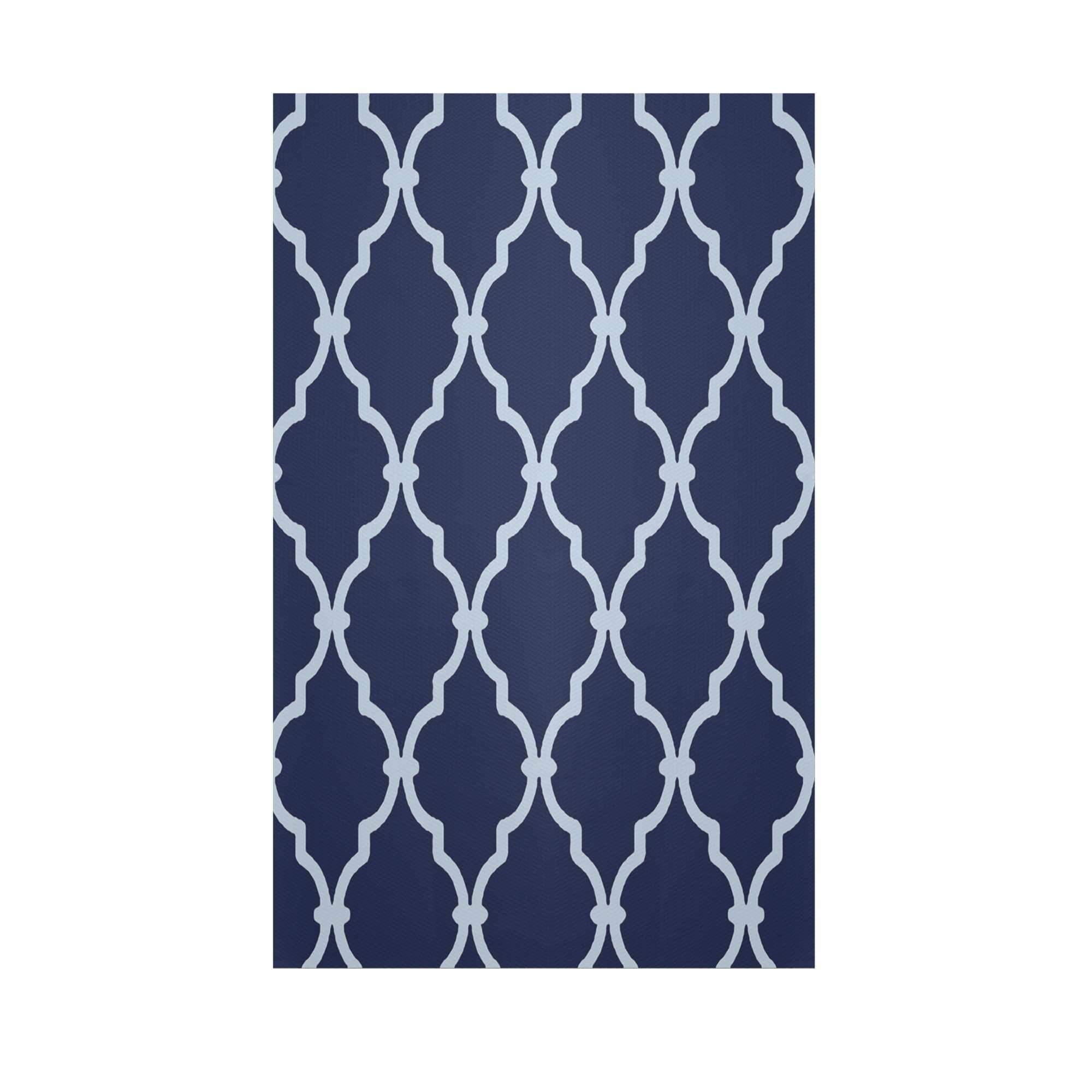 e by design Geometric Navy Blue Indoor Outdoor Area Rug