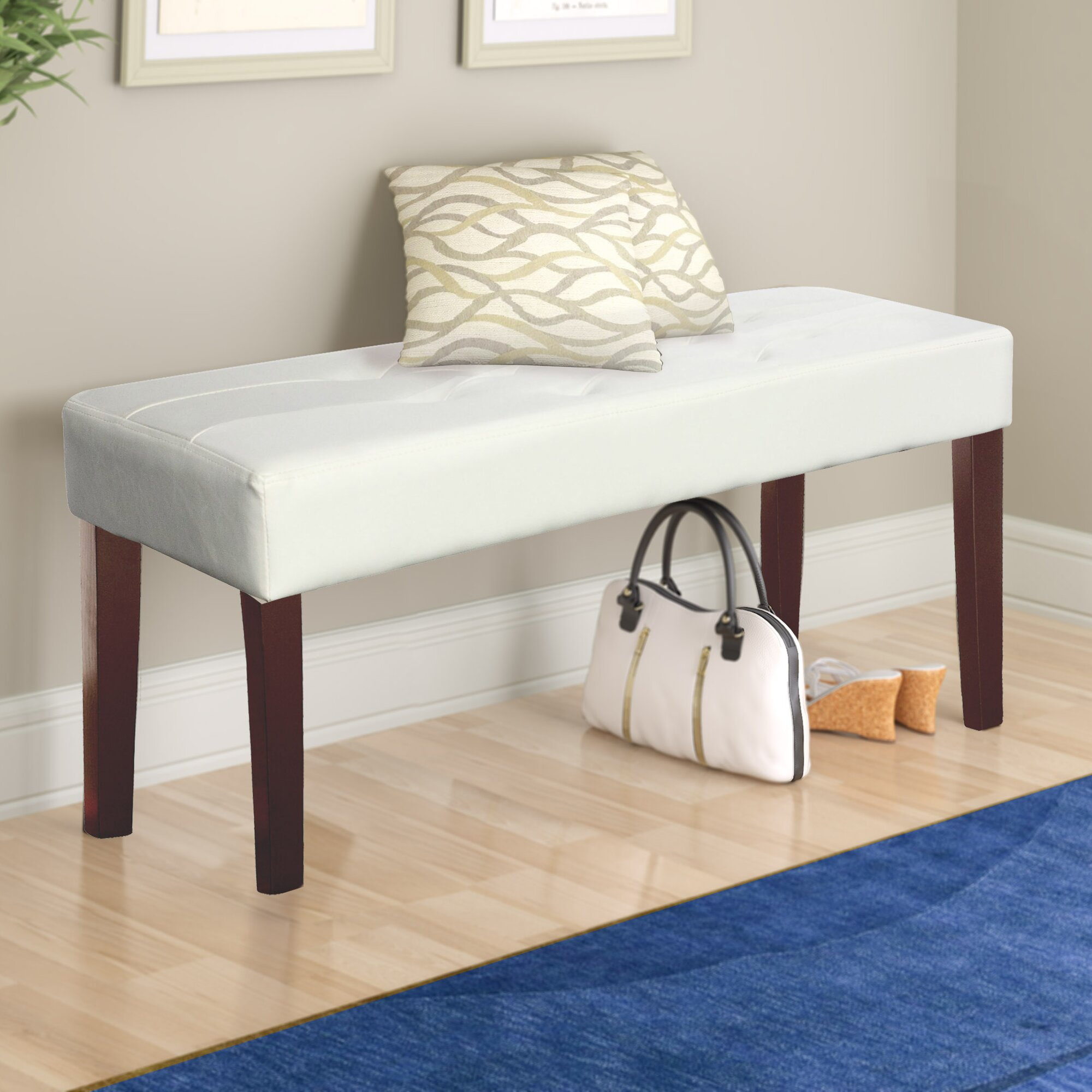 Corliving Fresno Upholstered Entryway Bench Amp Reviews