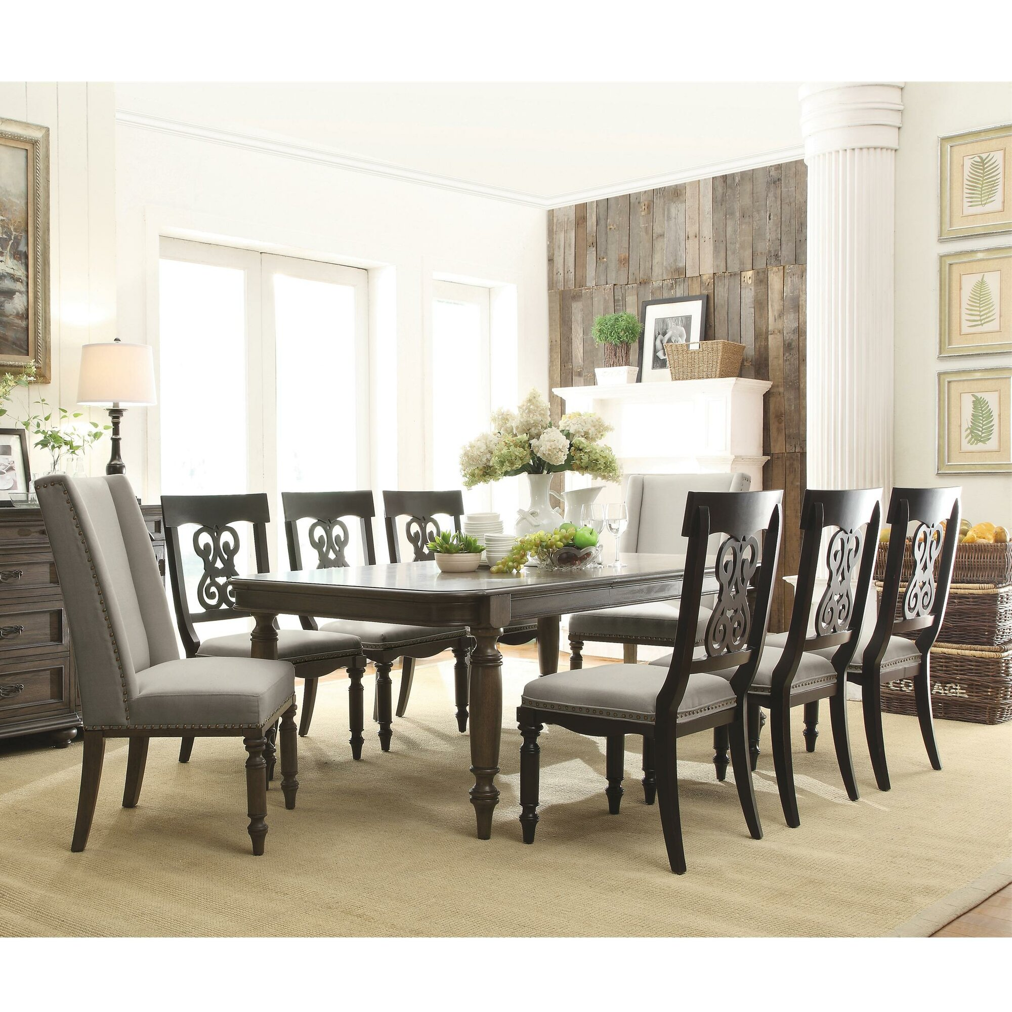 9 piece dining room sets | Rosalind Wheeler Beckles 9 Piece Dining Set & Reviews ...
