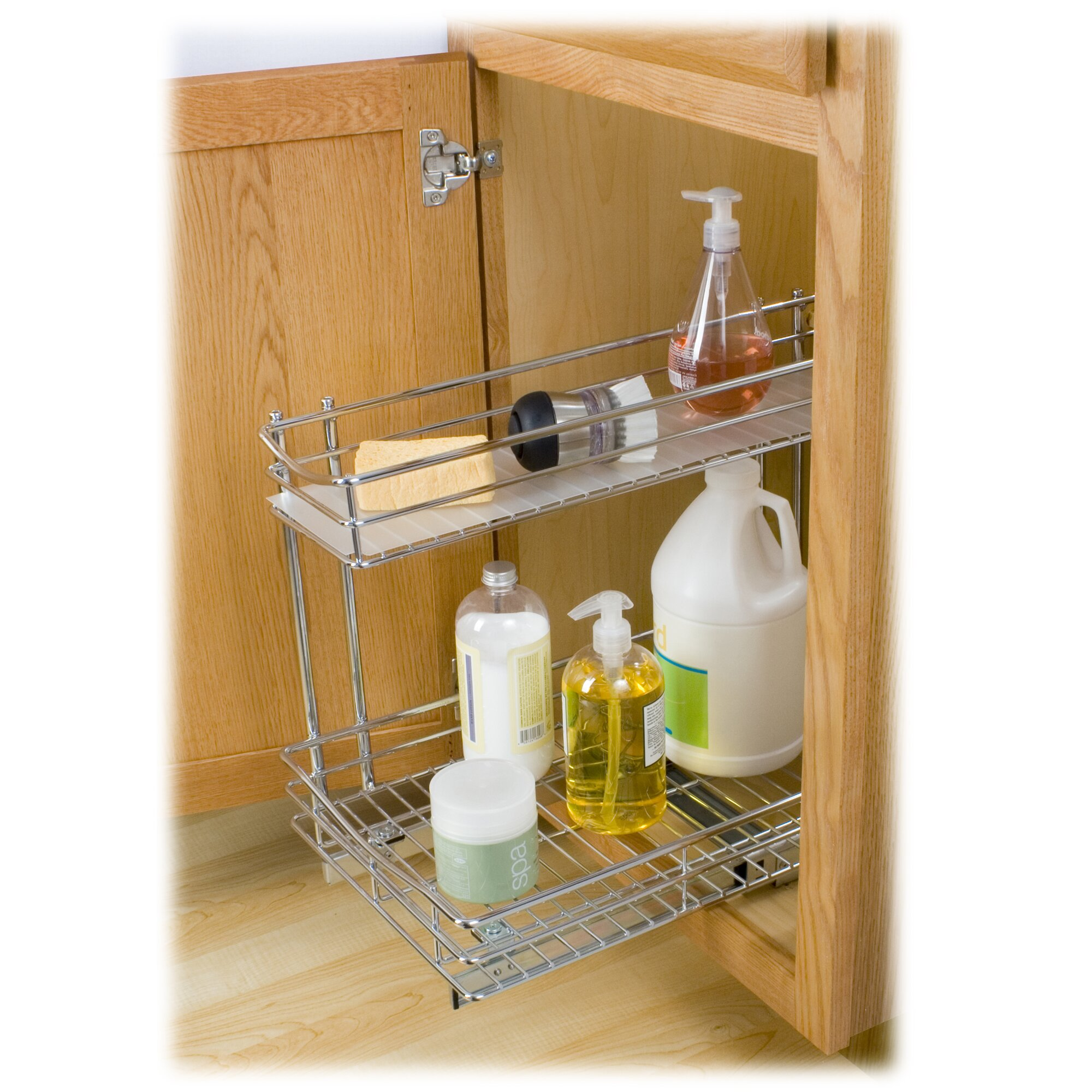Lynk Roll Out Under Sink Cabinetanizer Pull Out Two Tier Sliding