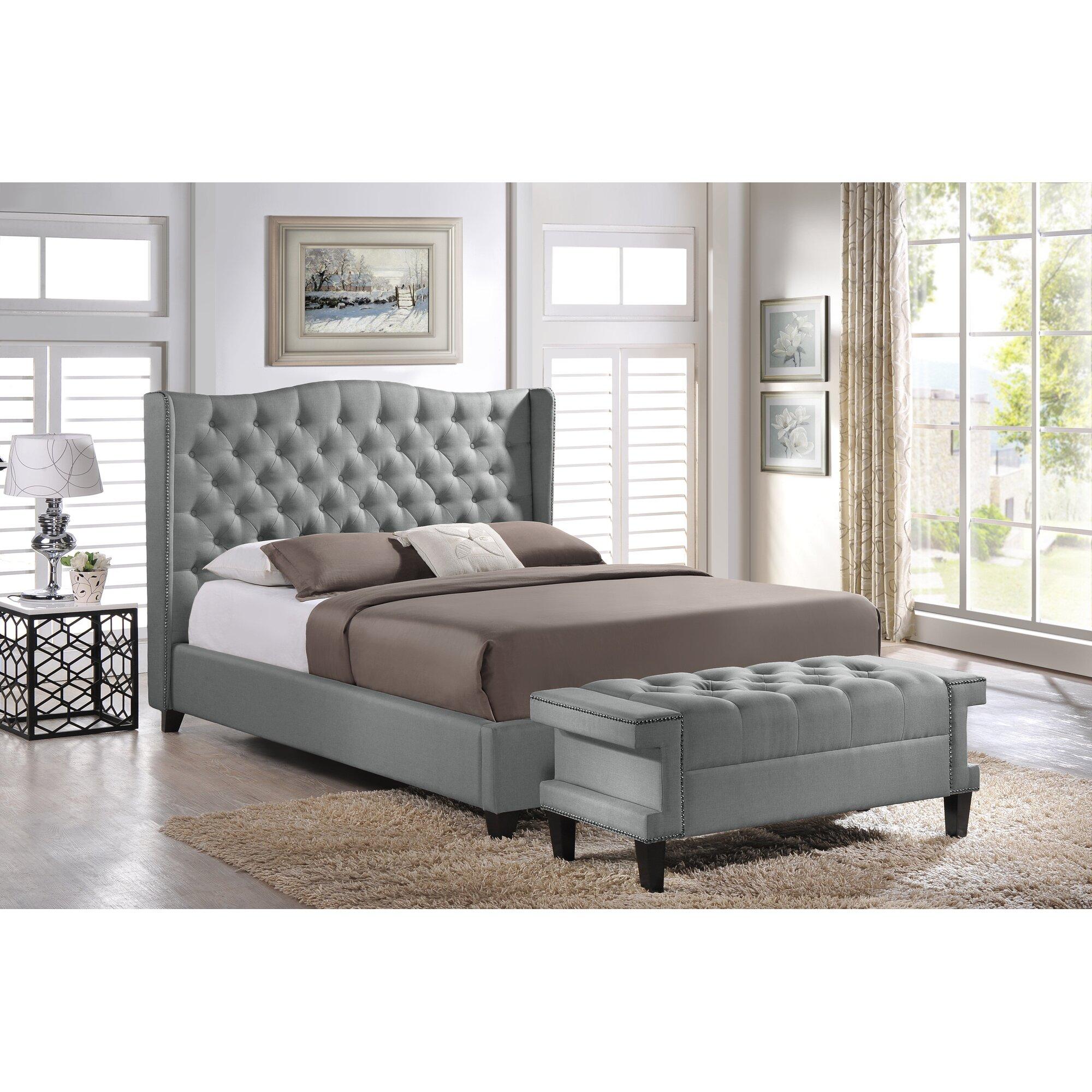Baxton studio upholstered platform bed by wholesale interiors - Wholesale Interiors Baxton Studio Upholstered Platform Bed