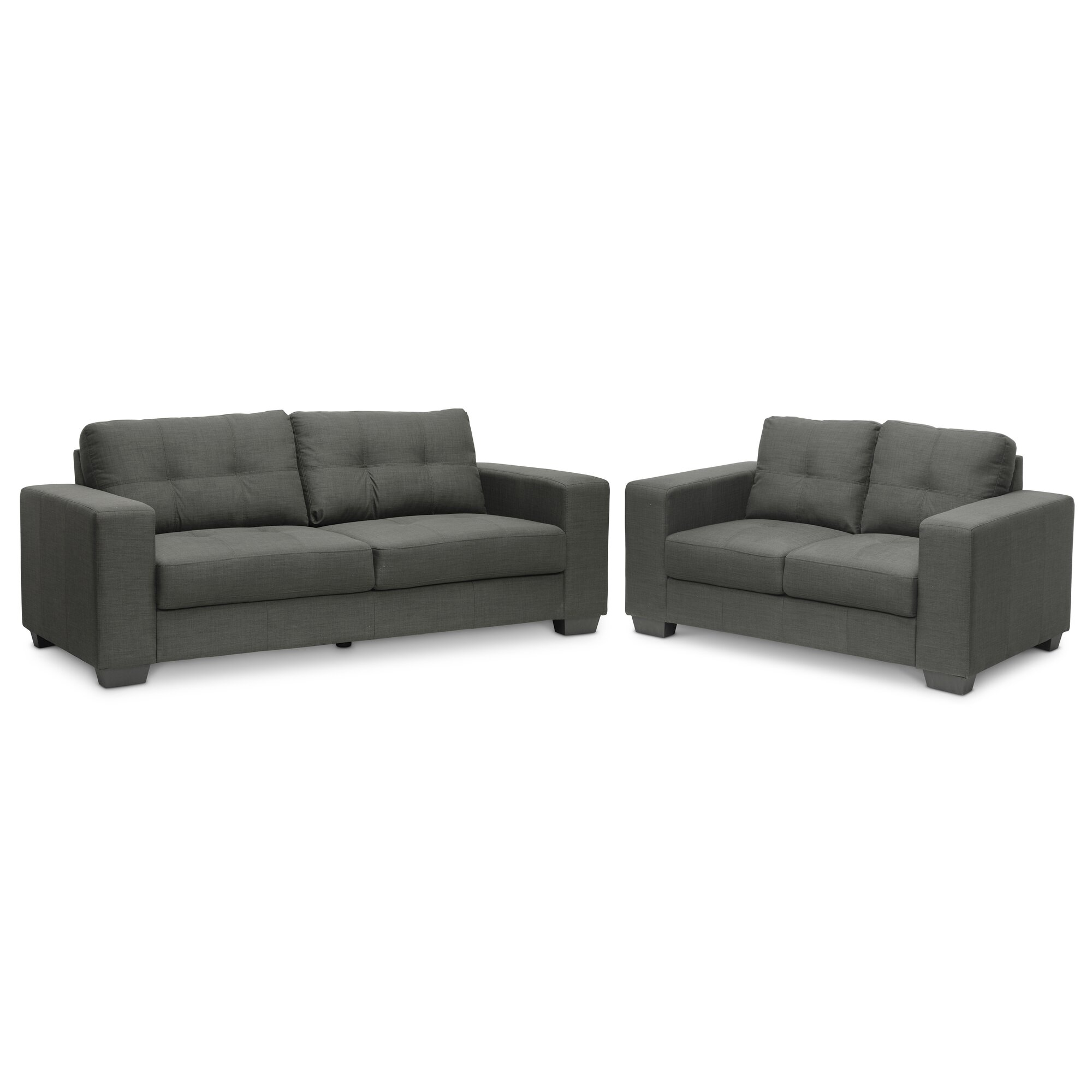 Wholesale interiors baxton studio 2 piece sofa set wayfair for 2 piece furniture set
