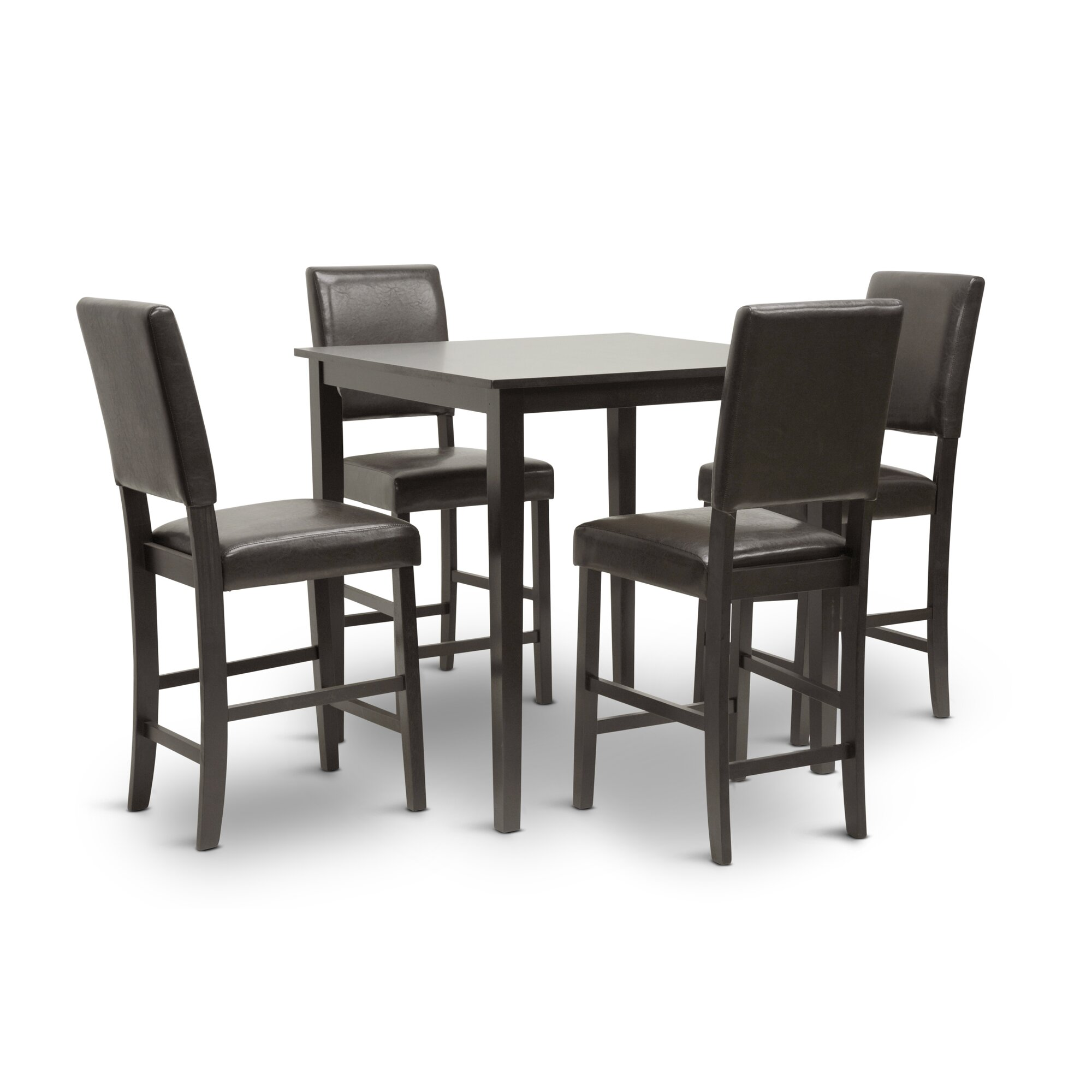 baxton studio 5 piece counter height dining set reviews